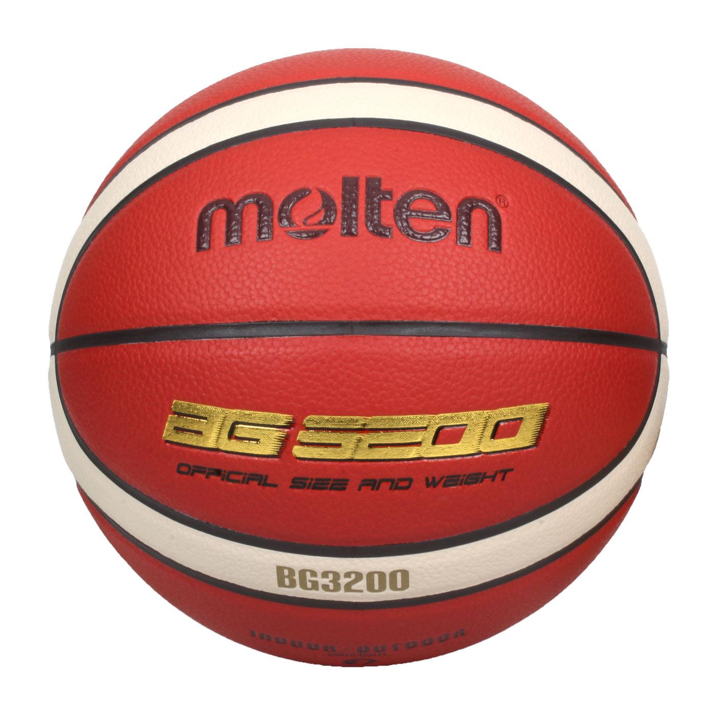 Molten #7合成皮12片貼籃球 B7G3200 - 橘米白金