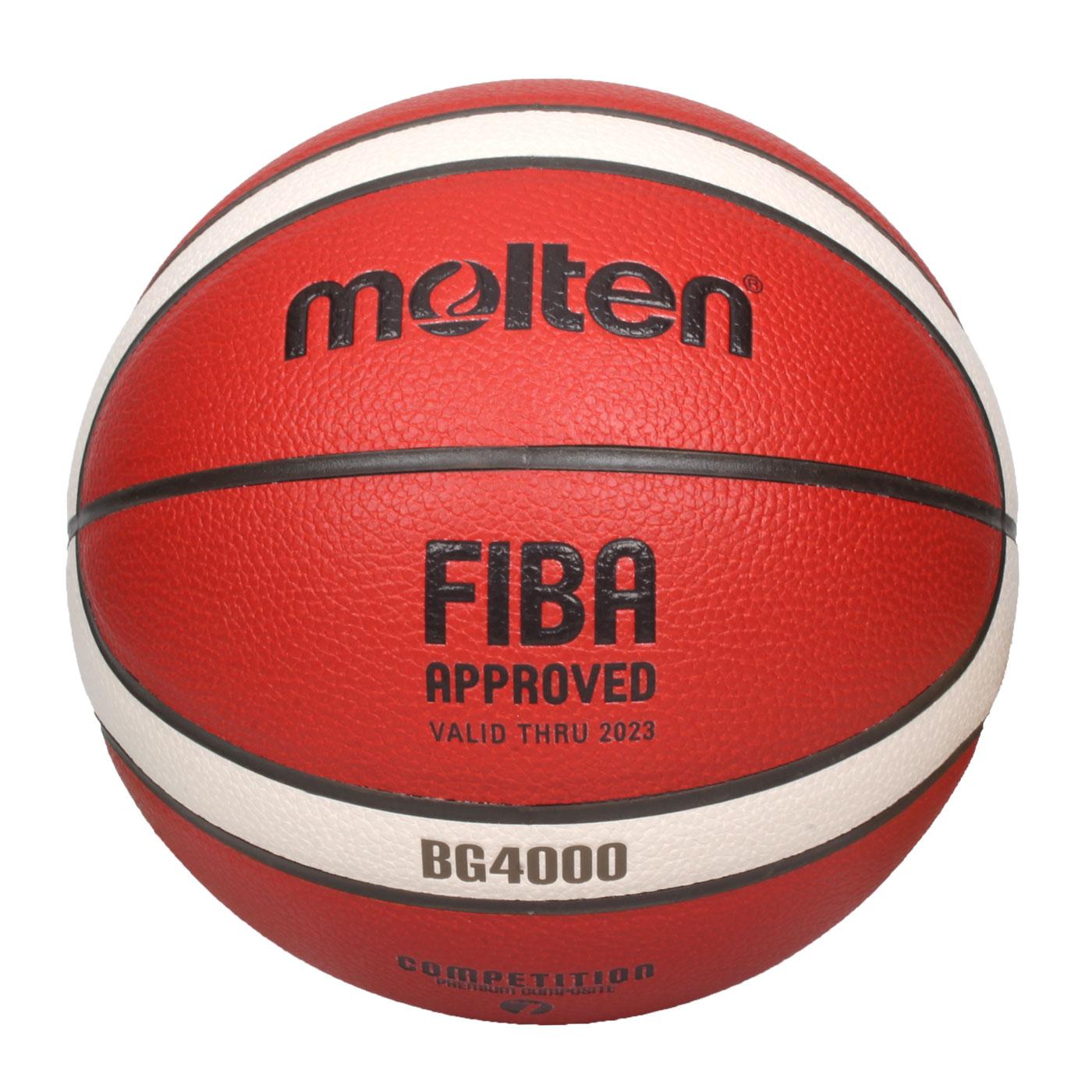 Molten #7合成皮12片貼籃球 B7G4000 - 橘米白黑