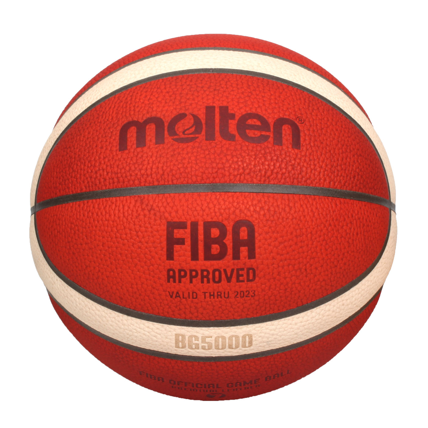 Molten #7真皮12片貼籃球 B7G5000 - 橘米黃