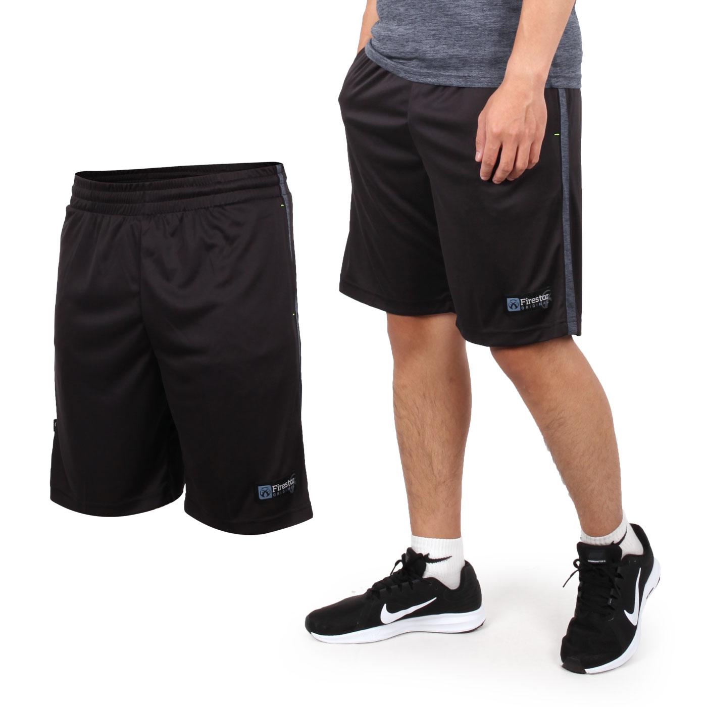 FIRESTAR 男款吸排籃球褲 B8002-18 - 黑麻灰