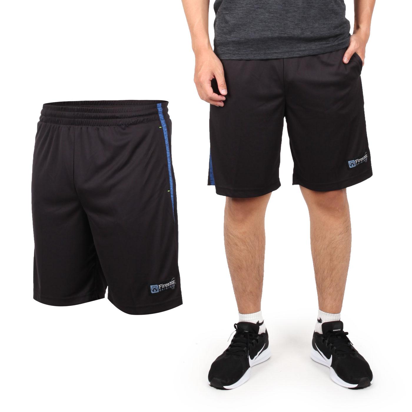FIRESTAR 男款吸排籃球褲 B8002-18 - 黑藍