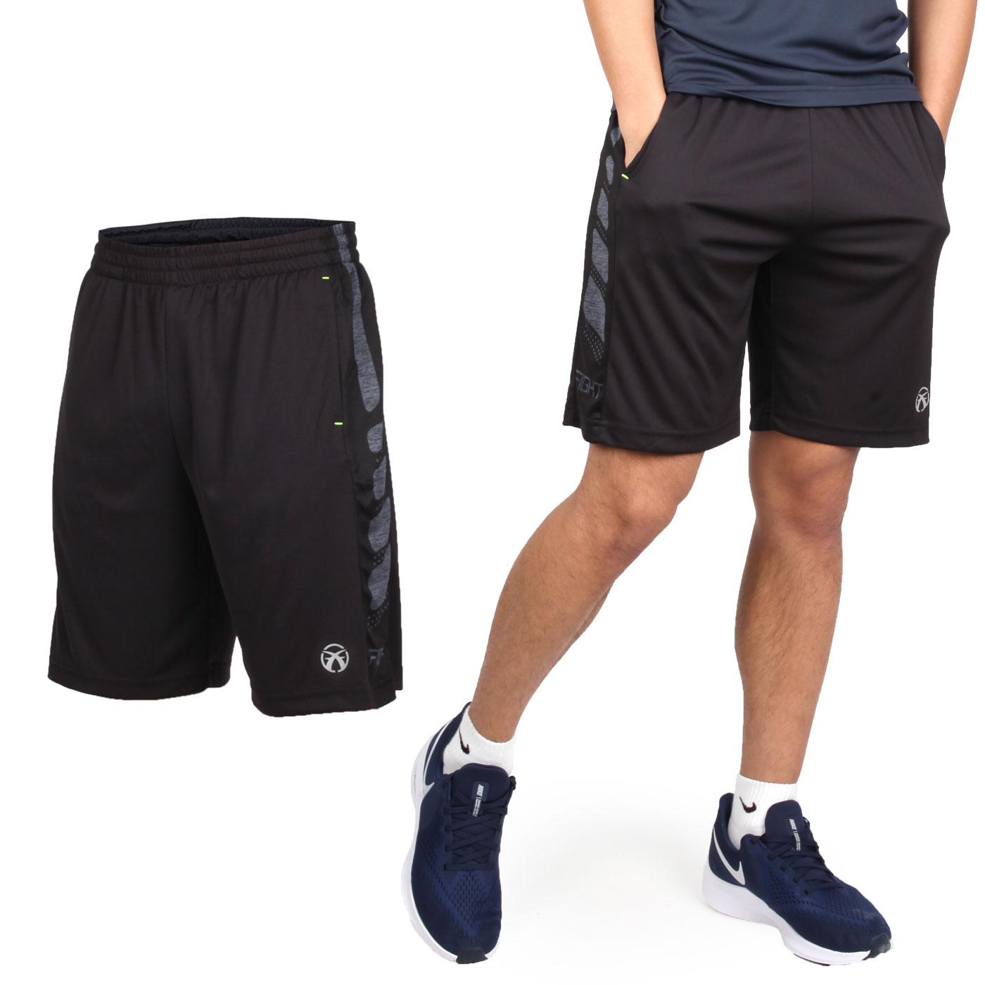 FIRESTAR 男款吸濕排汗籃球短褲 B9201-18 - 黑灰