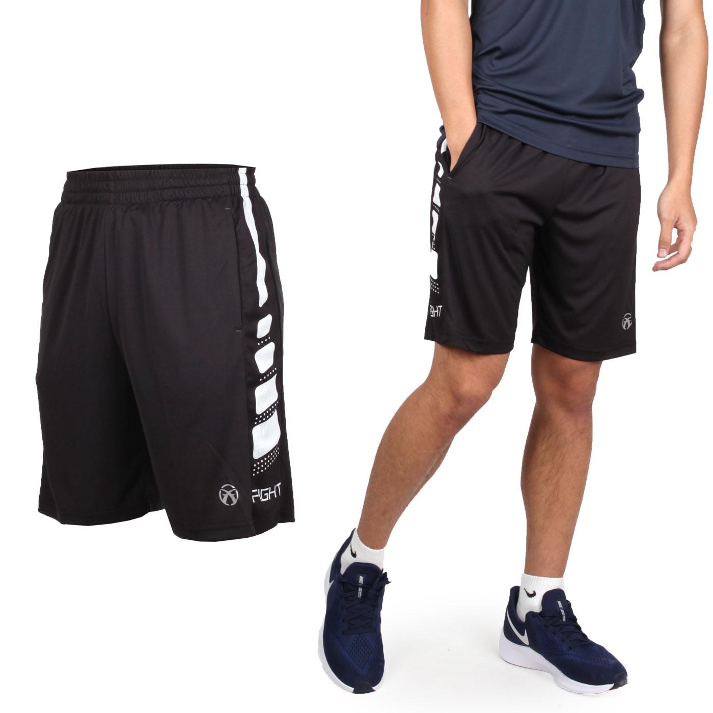 FIRESTAR 男款吸濕排汗籃球短褲 B9201-18 - 黑白