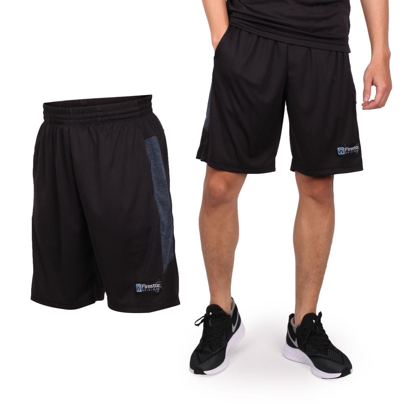 FIRESTAR 男款吸濕排汗籃球短褲 B9202-18 - 黑灰