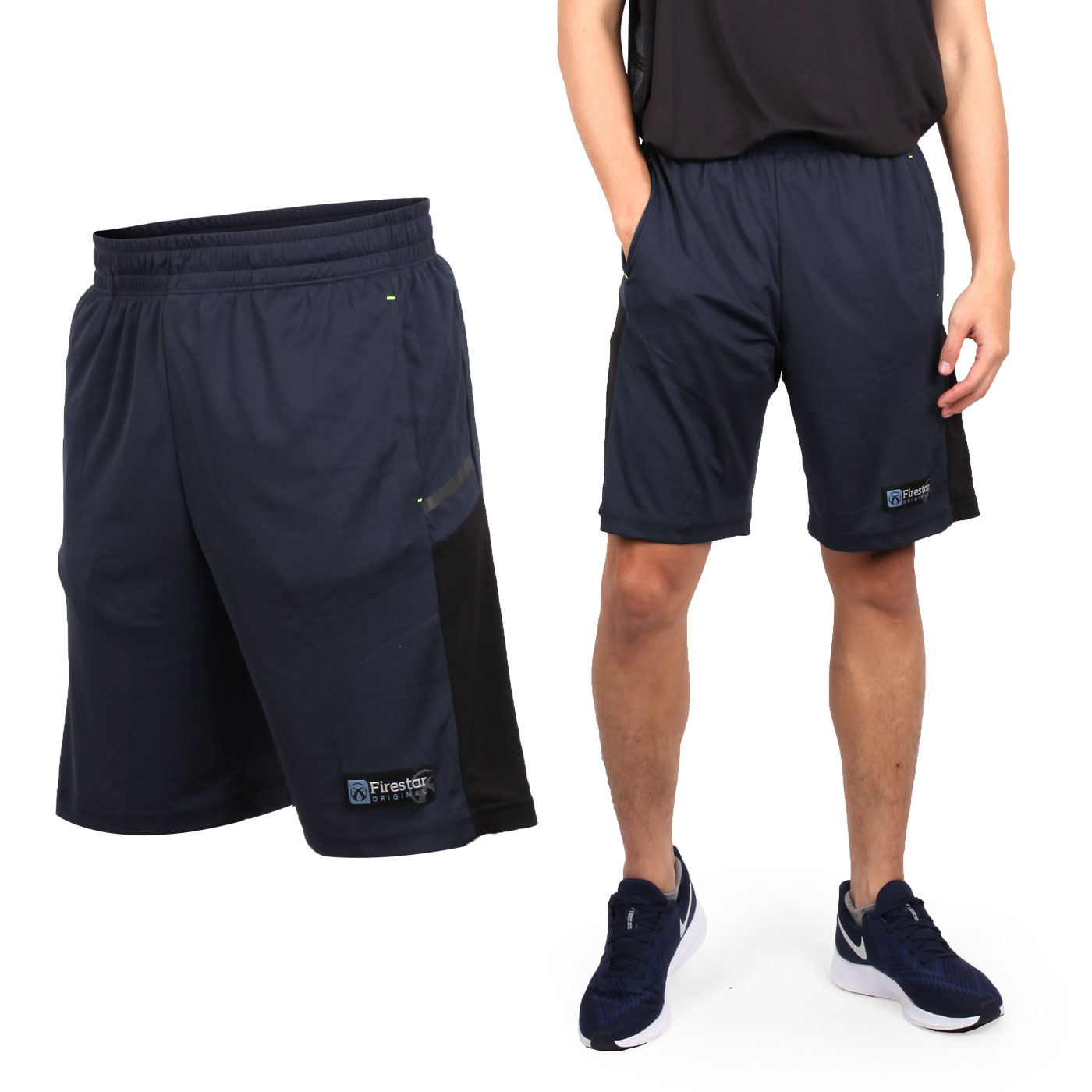 FIRESTAR 男吸濕排汗籃球短褲 B9203-10 - 丈青黑