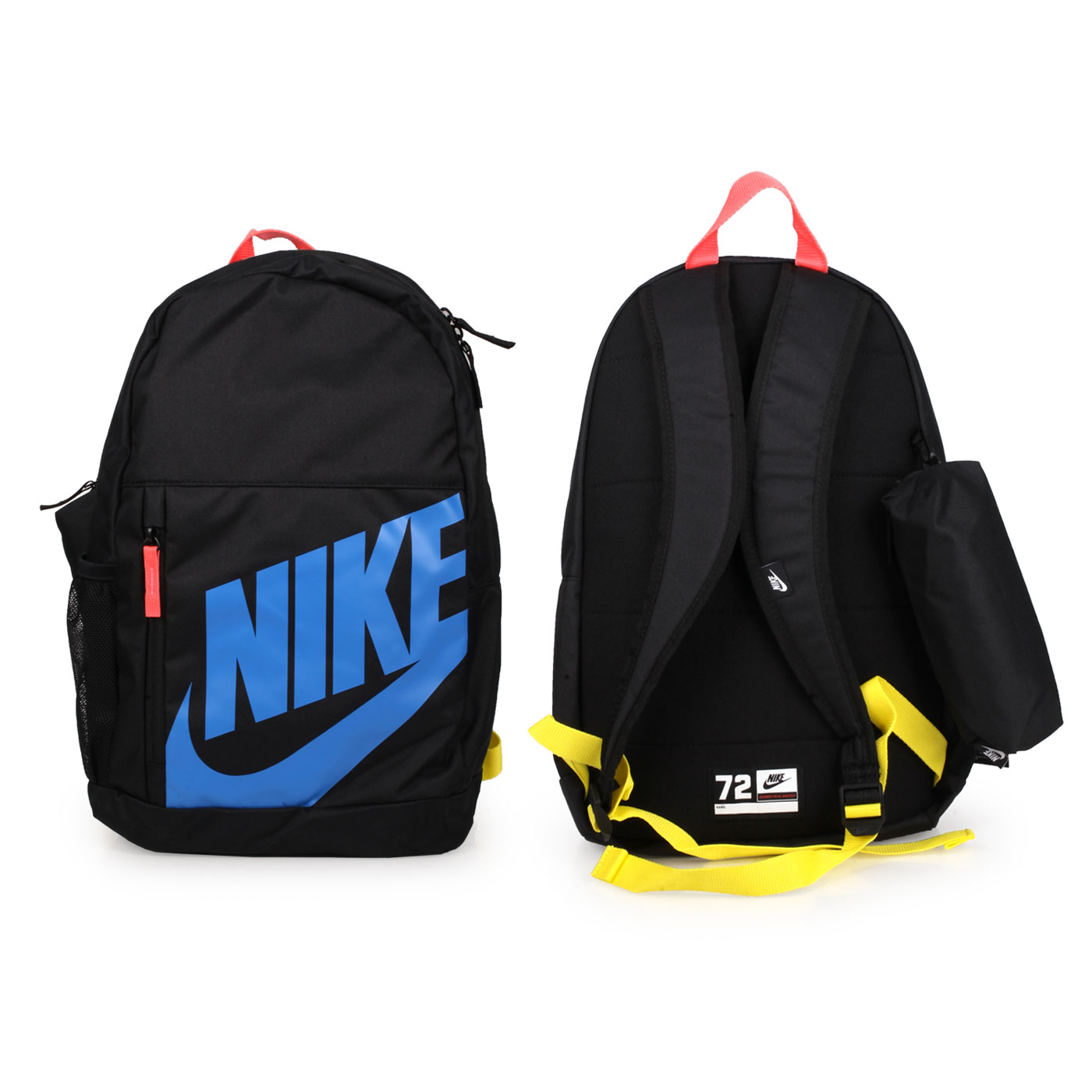 NIKE 中型後背包 BA6030-013 - 黑藍