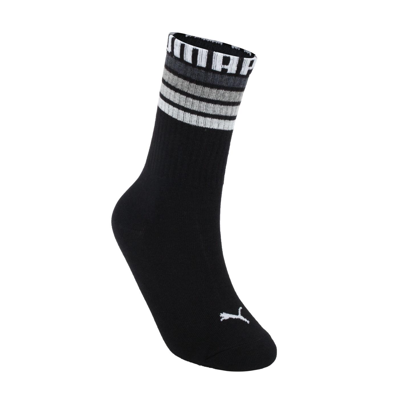 PUMA  字樣長襪 BB128301 - 黑白灰