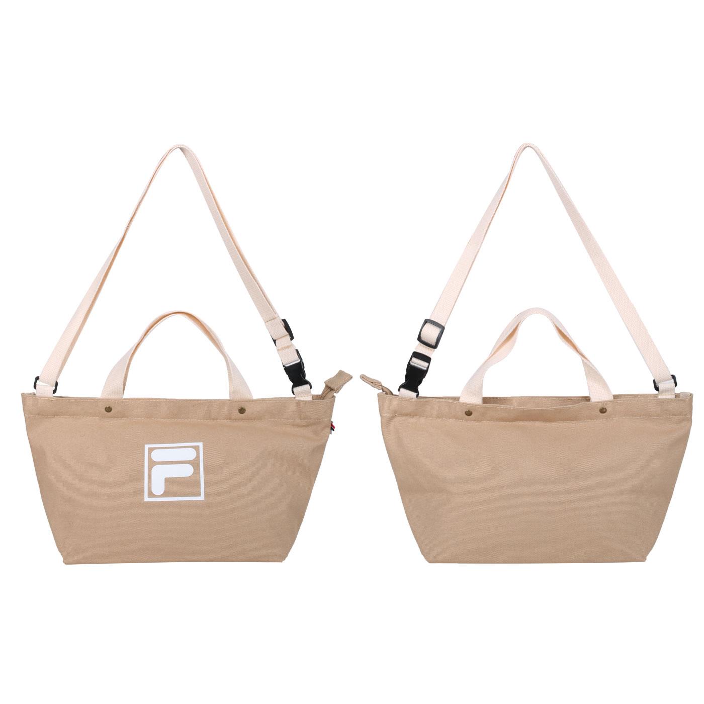 FILA 中型兩用帆布包 BMU-9009-KK - 奶茶白