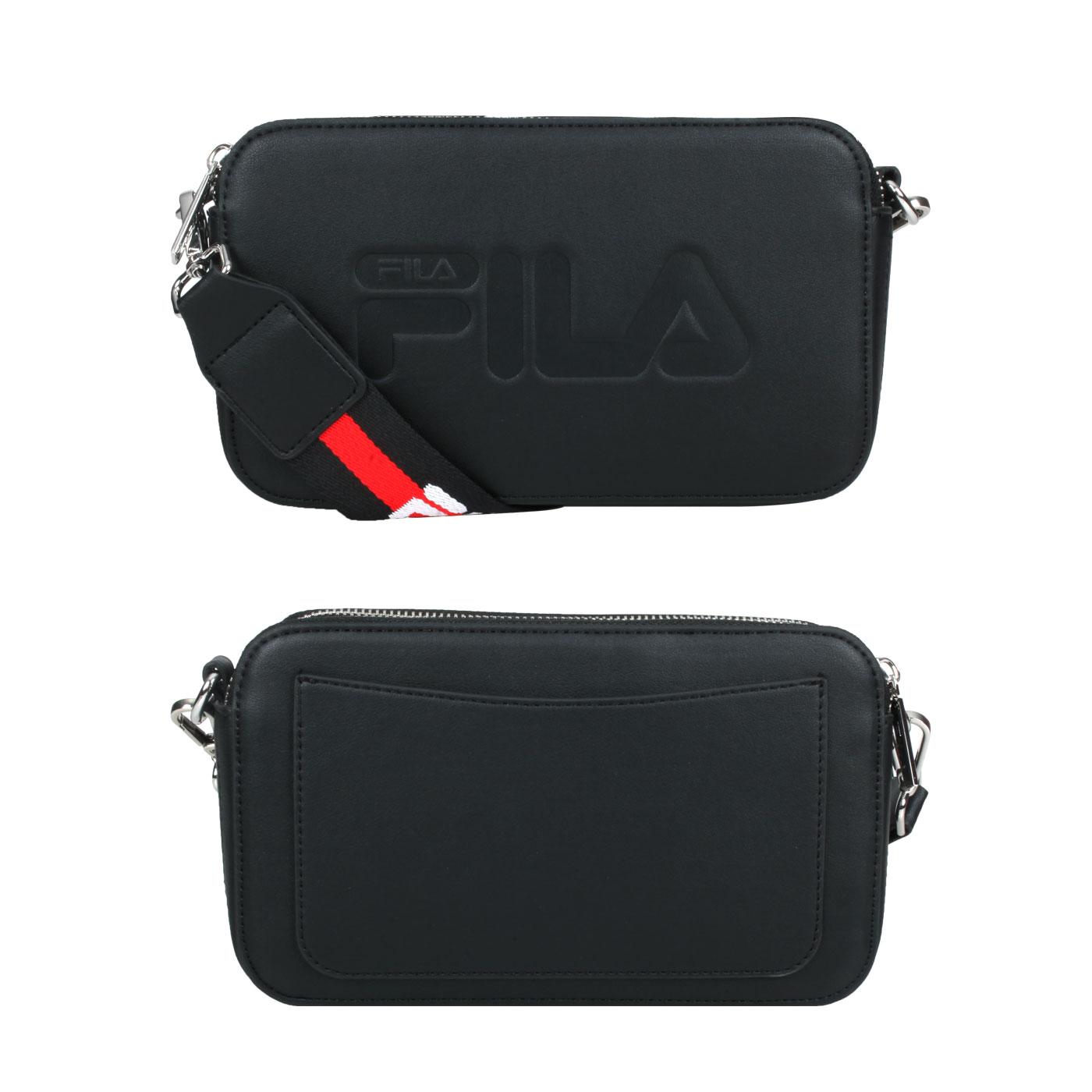 FILA 背帶相機包 BMV-3015-BK - 黑紅白