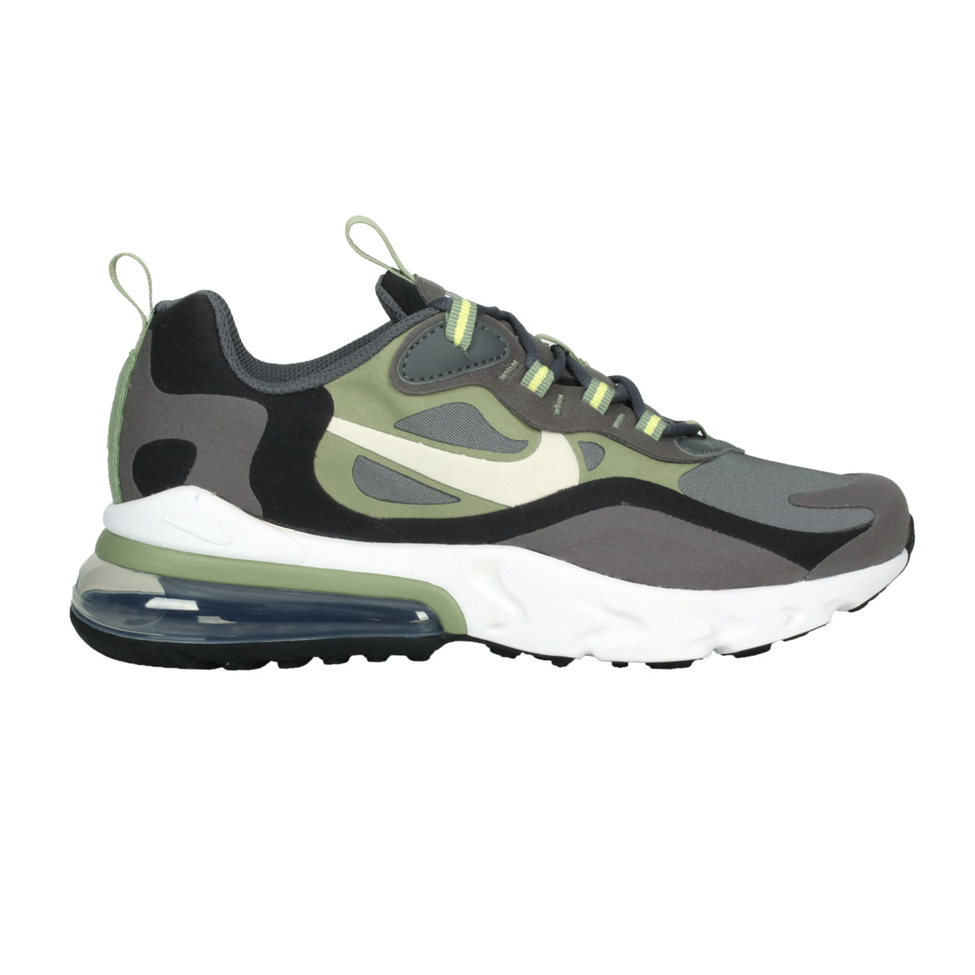 NIKE 大童氣墊休閒運動鞋  @AIR MZX 270 REACT (GS)@BQ0103022 - 灰黑綠