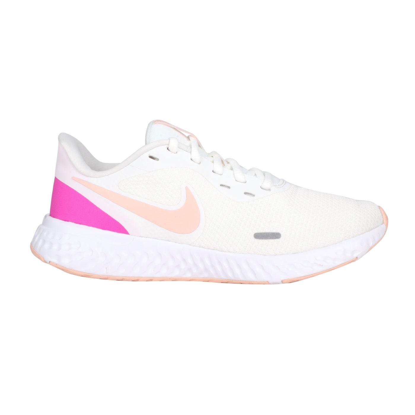 NIKE 女款慢跑鞋  @WMNS REVOLUTION 5@BQ3207002 - 米白紫粉橘