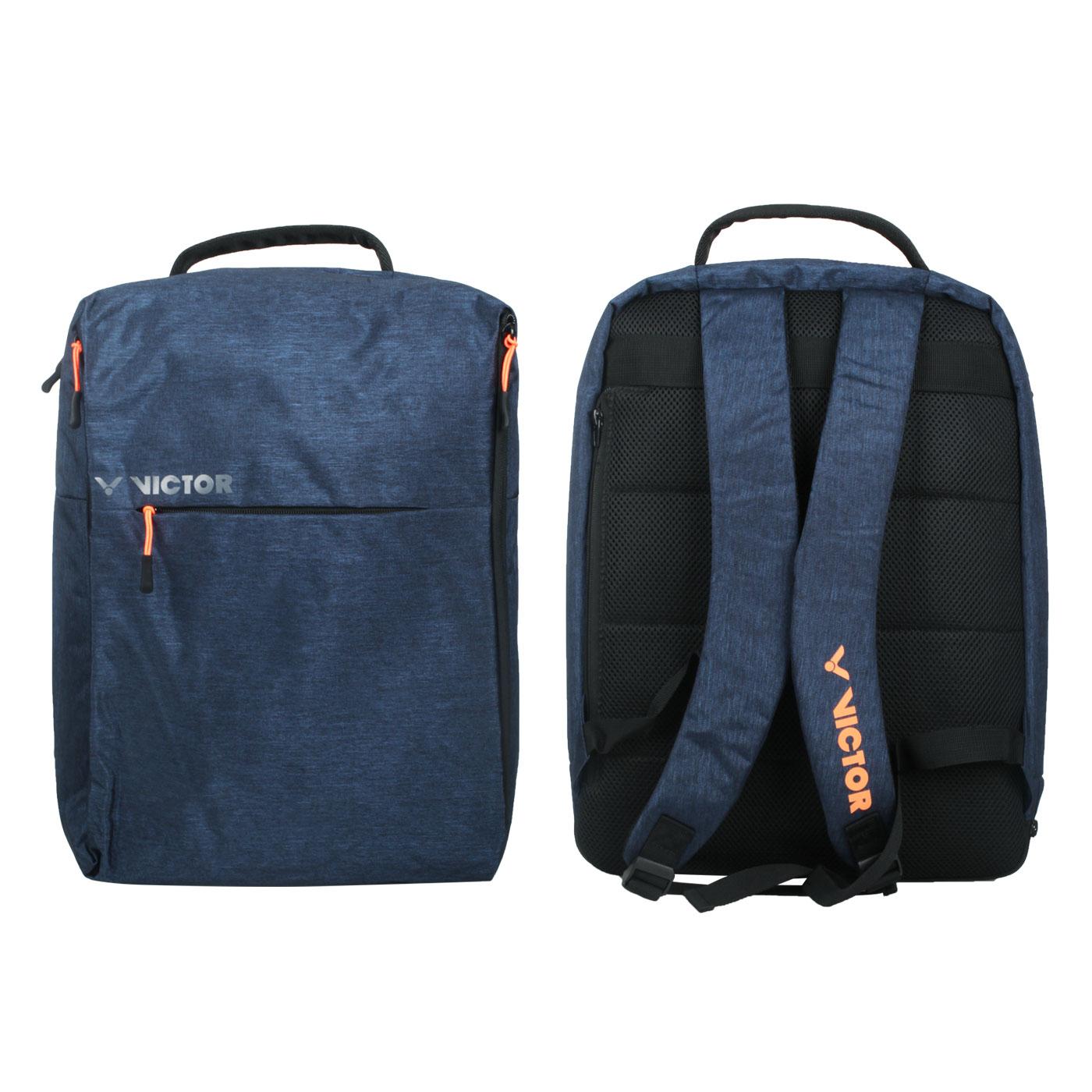 VICTOR 後背包 BR3022B - 深藍橘