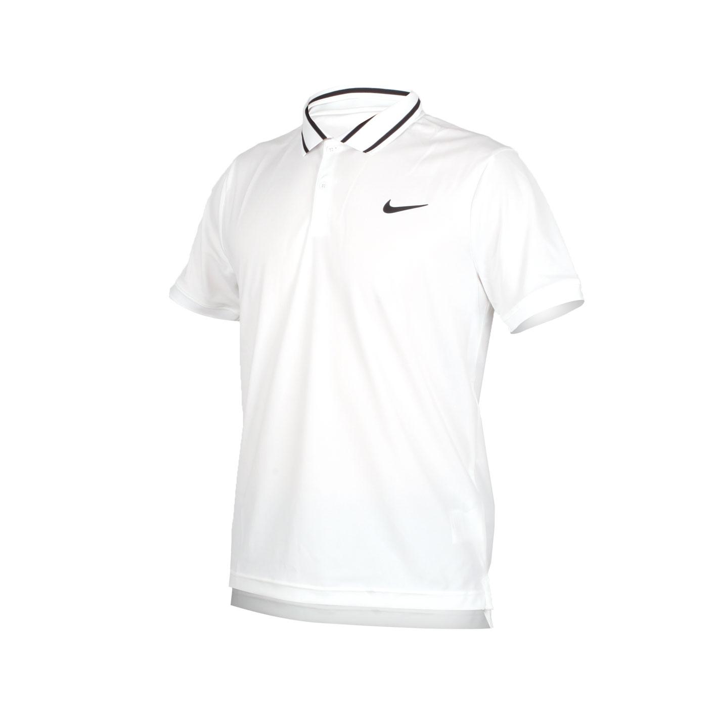 NIKE 男款短袖針織POLO衫 BV1195100 - 白黑