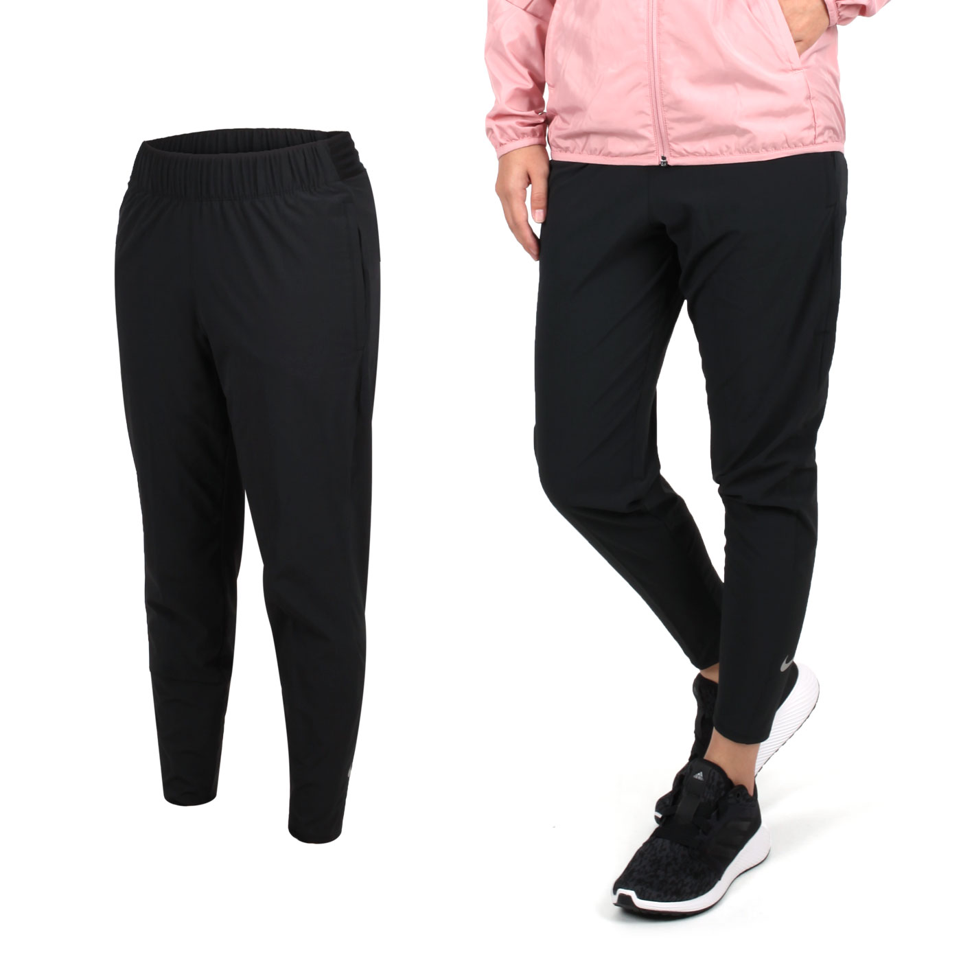 NIKE 女款運動長褲 BV2899011 - 黑銀