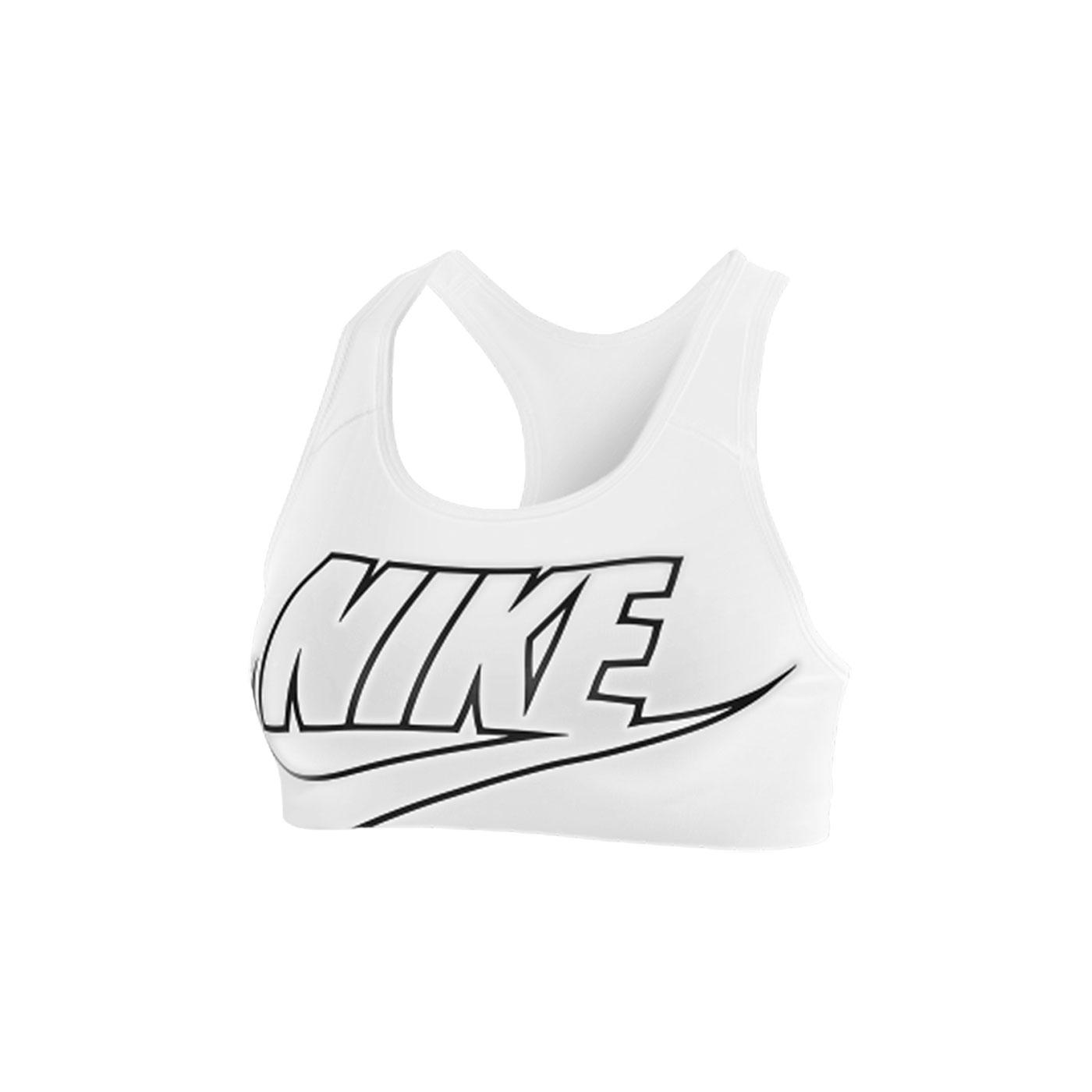 NIKE 女款中度支撐運動內衣 BV3644-010 - 白黑