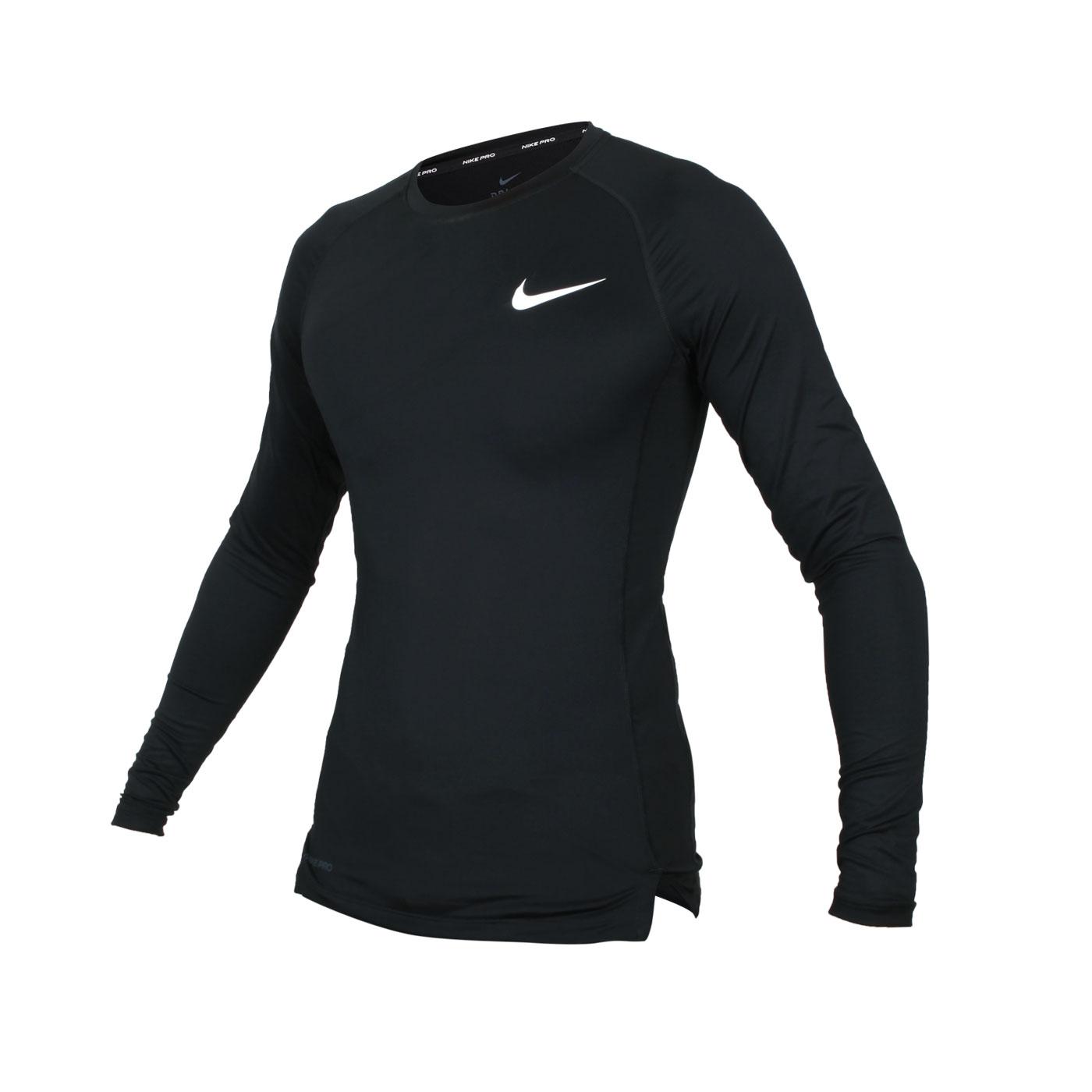 NIKE 男款長袖緊身T恤 BV5589-010 - 黑白