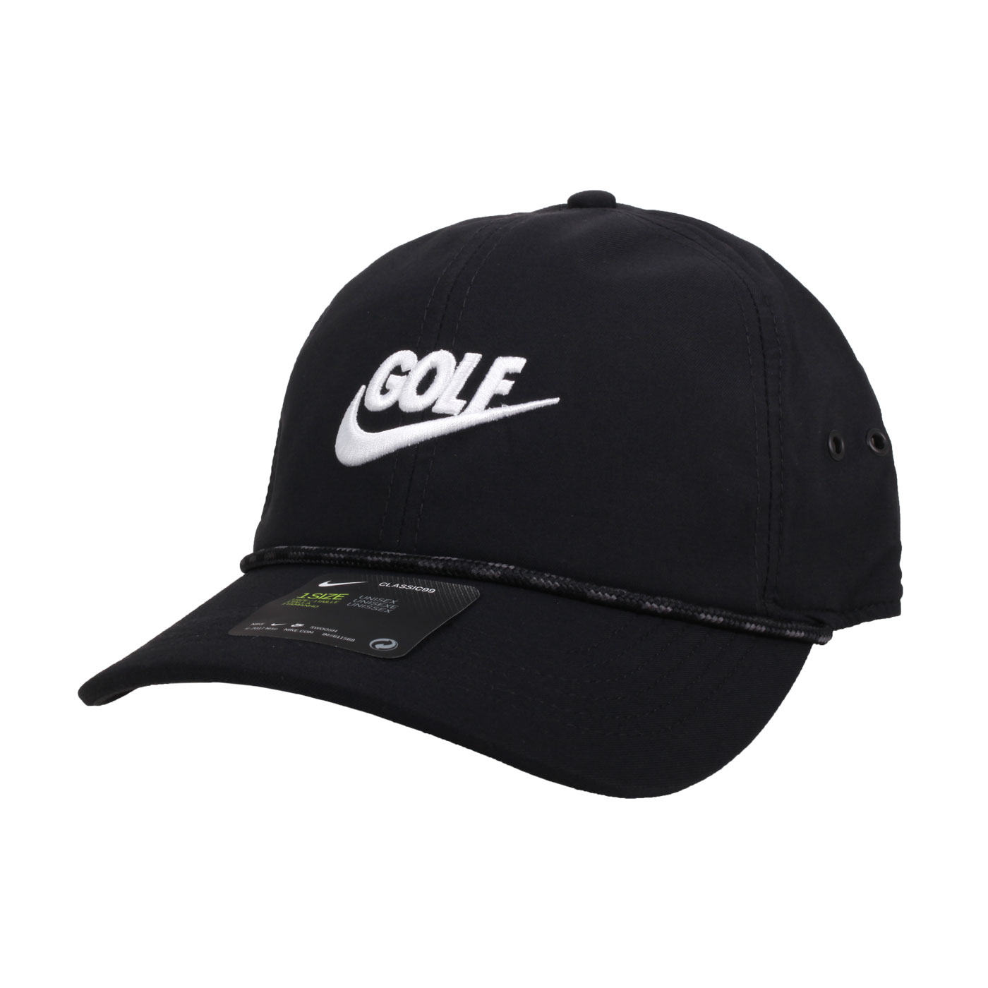 NIKE 高爾夫運動帽  GOLFBV8229-010 - 黑白
