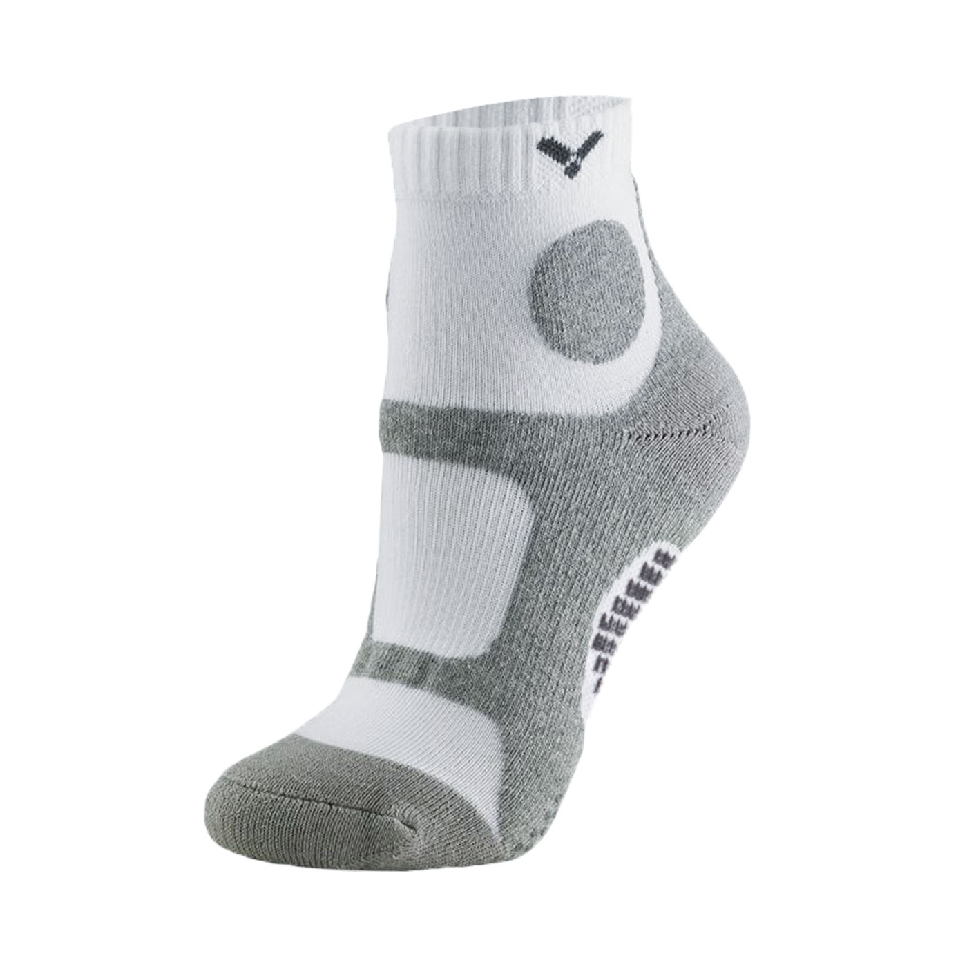 VICTOR 羽球機能襪 C-5048A - 灰白