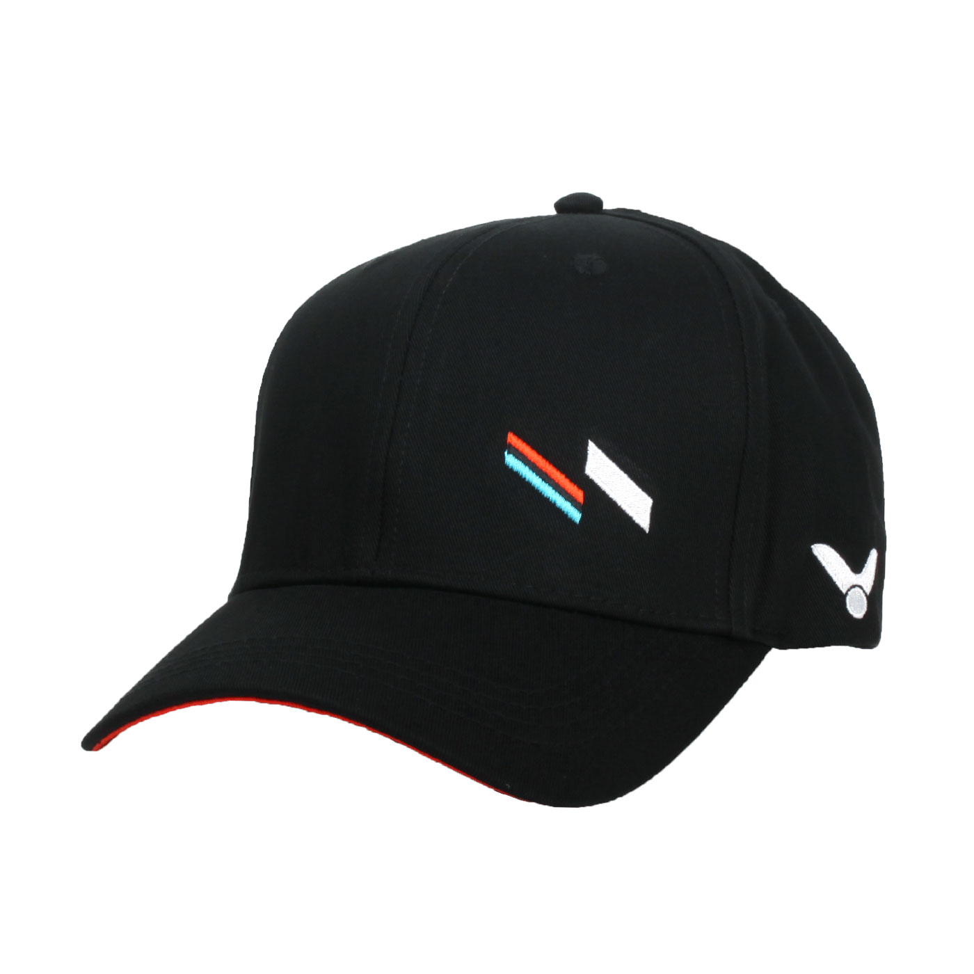 VICTOR 運動帽 C-VC211 - 黑白藍橘