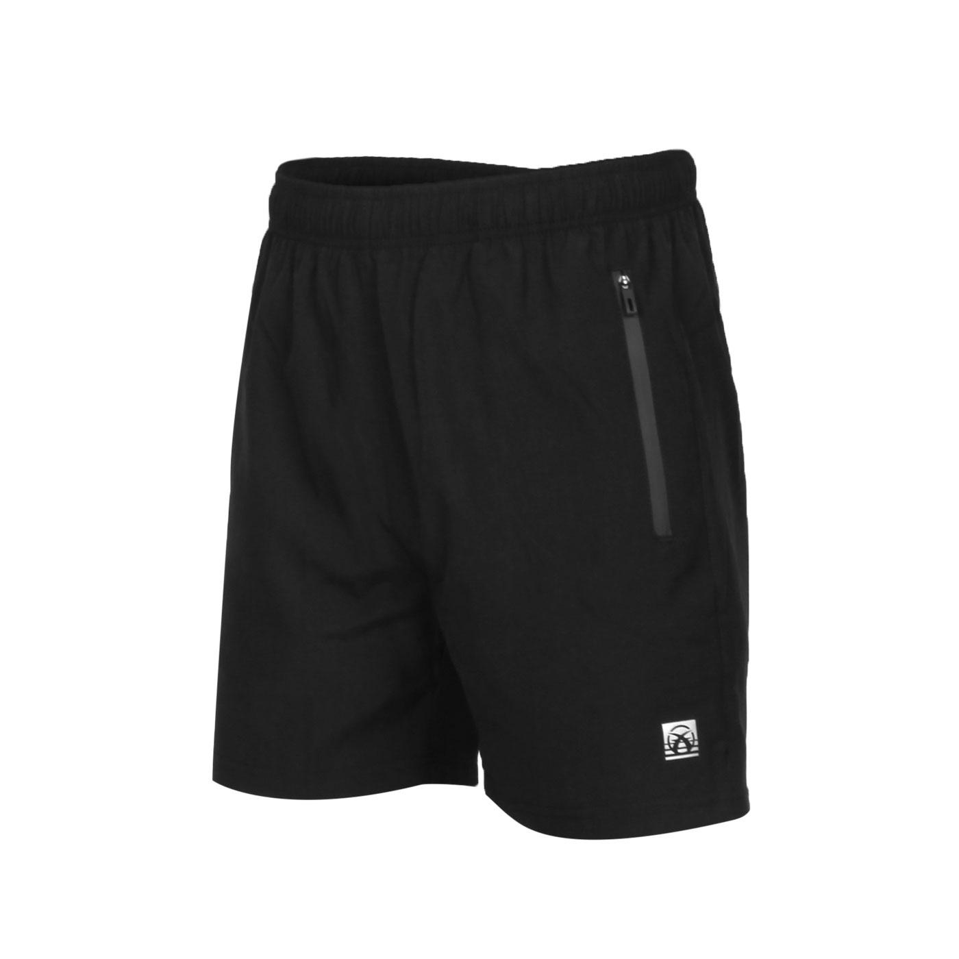 FIRESTAR 男款彈性平織短褲 C0513-10 - 黑銀