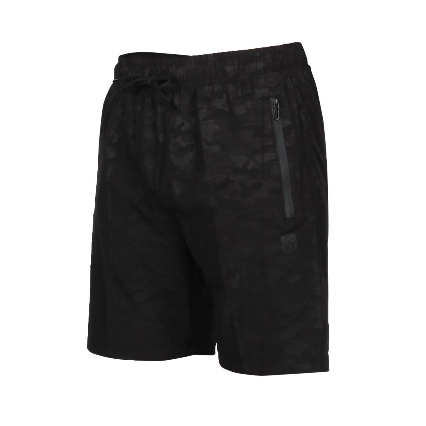 FIRESTAR 男款彈性平織短褲 C0518-10 - 迷彩黑
