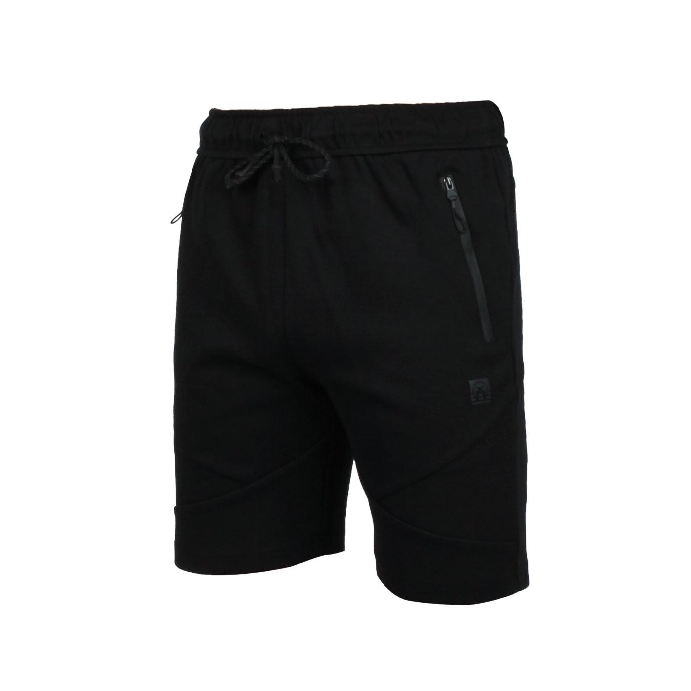 FIRESTAR 男款棉質休閒短褲 C0521-10 - 黑