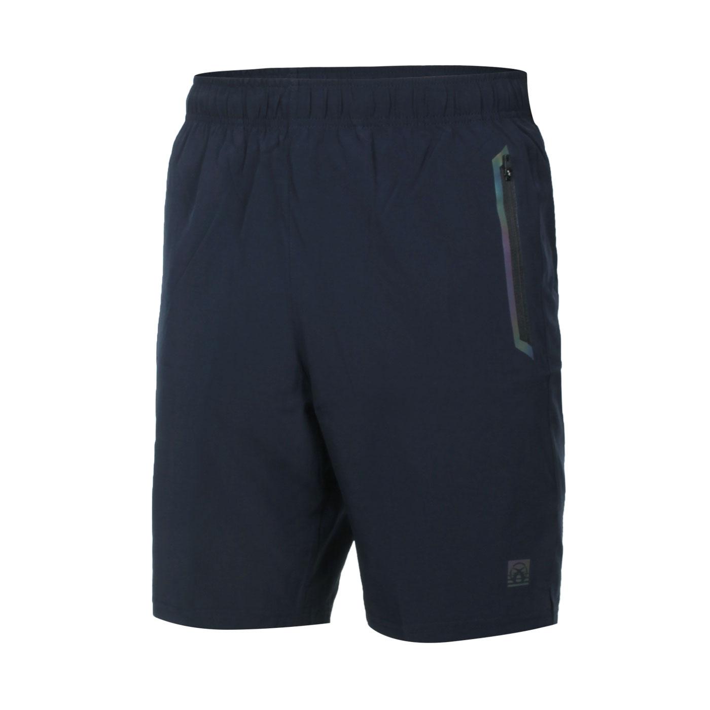 FIRESTAR 男款彈性平織短褲 C1717-93 - 丈青紫綠