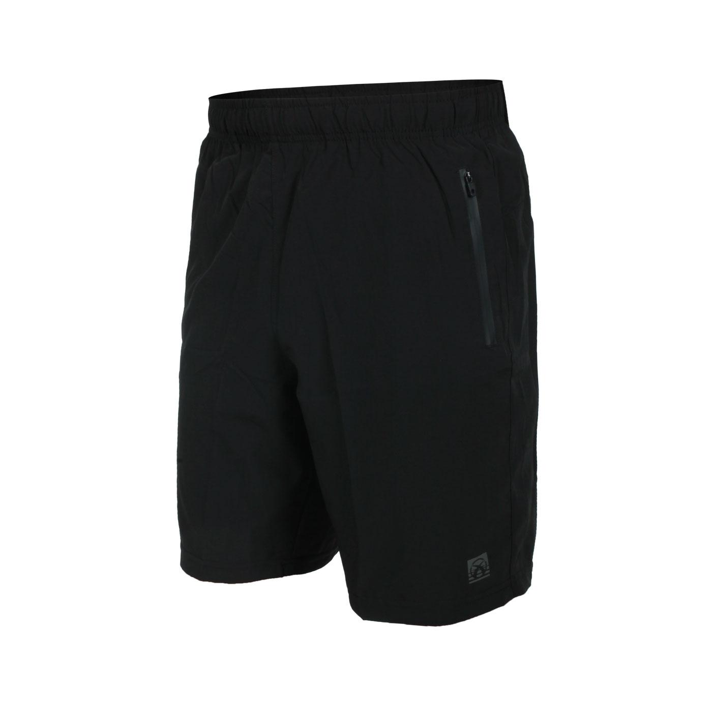 FIRESTAR 男款彈性平織短褲 C1718-10 - 黑銀