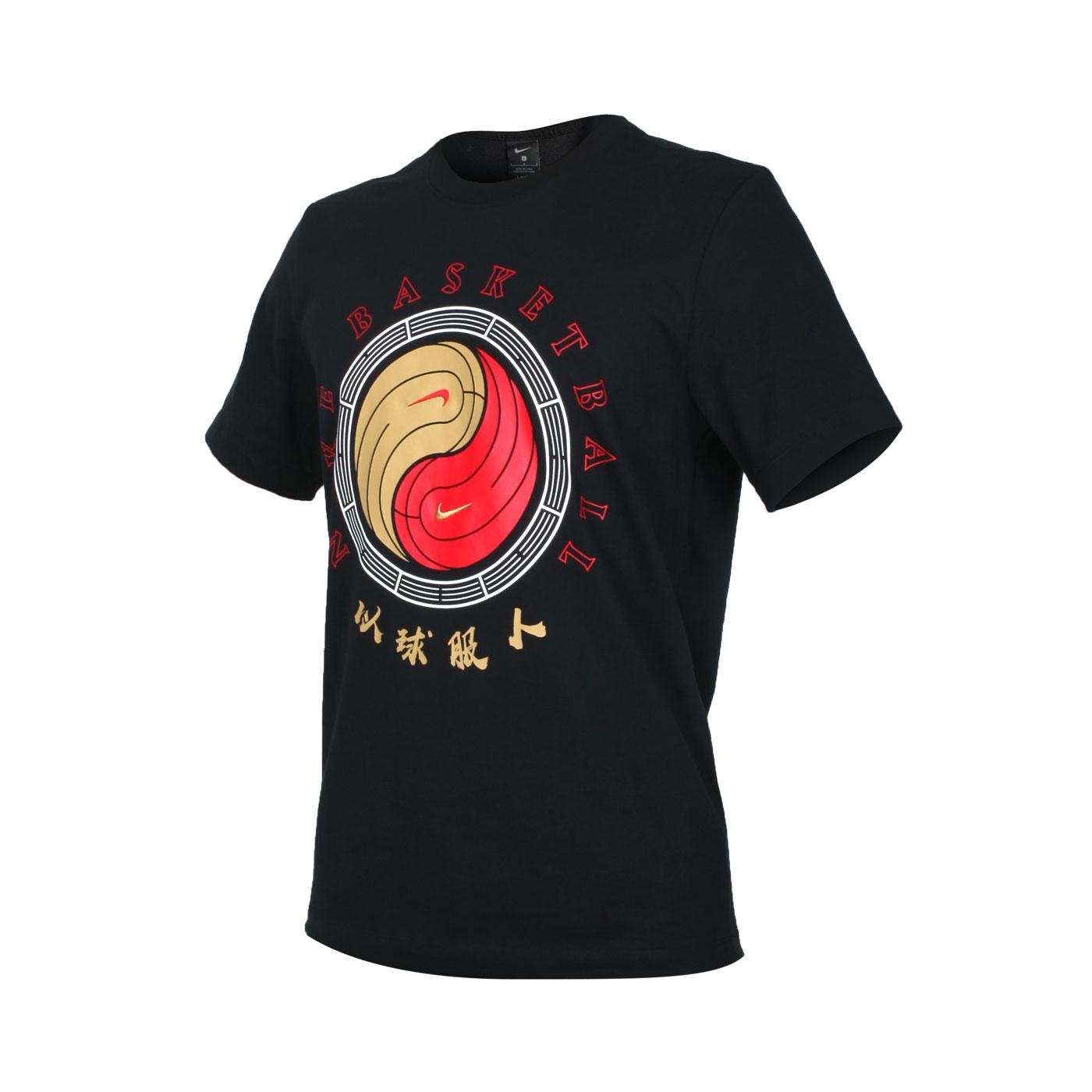 NIKE 男款短袖T恤 CD1130-010 - 黑白紅金