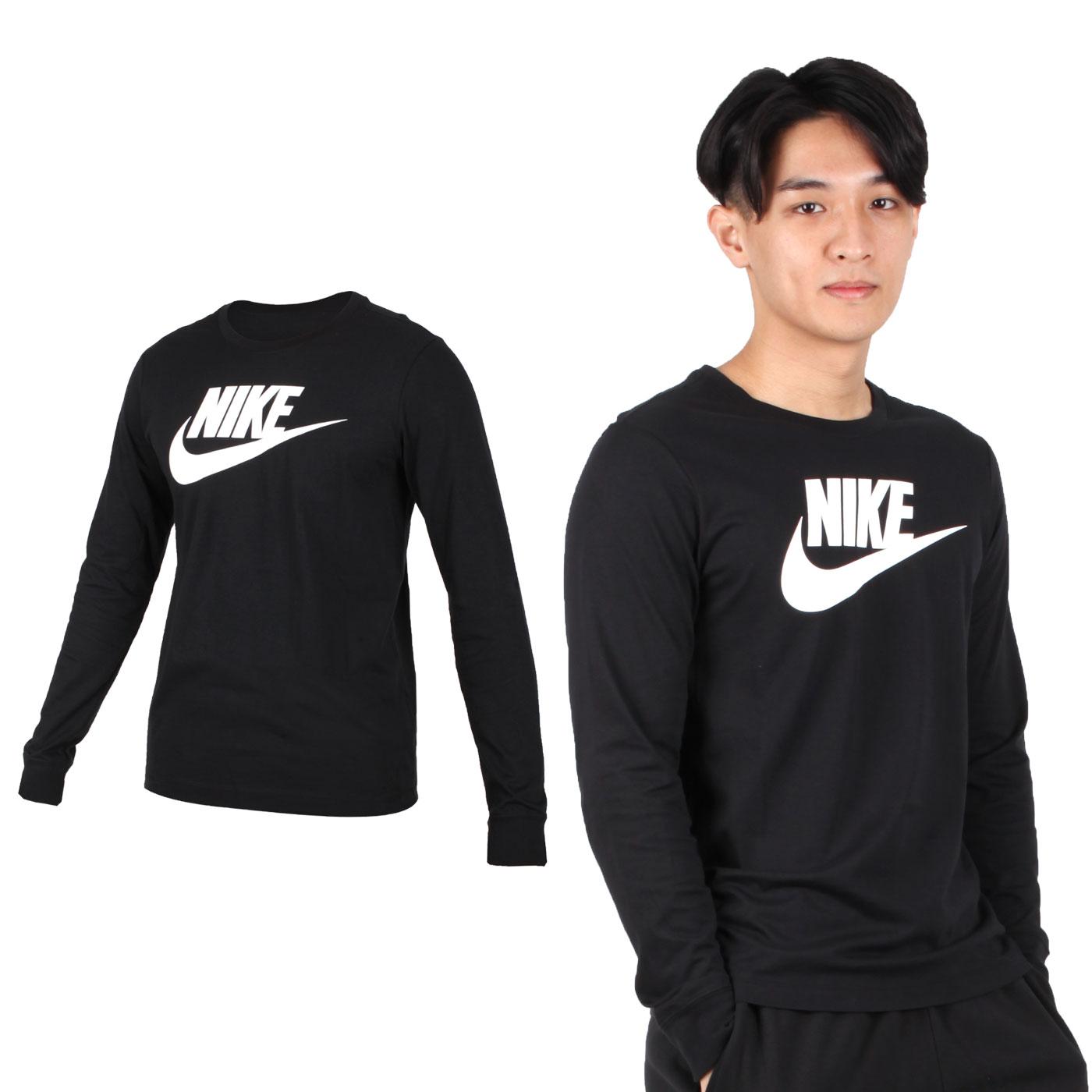 NIKE 男款薄長袖圓領T恤 CI6292-010 - 黑白