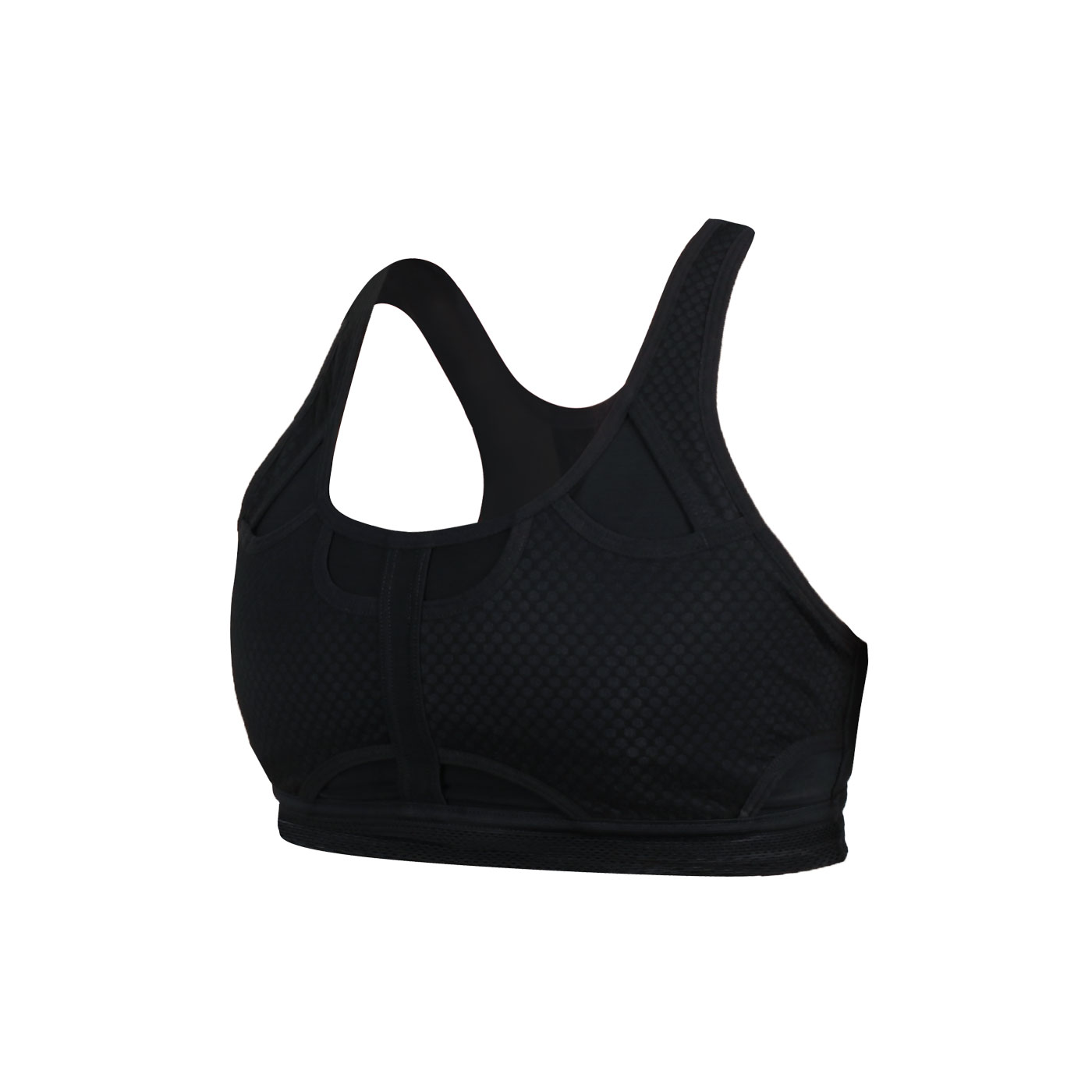 NIKE 女款中度支撐運動內衣 CJ0150-010 - 黑銀