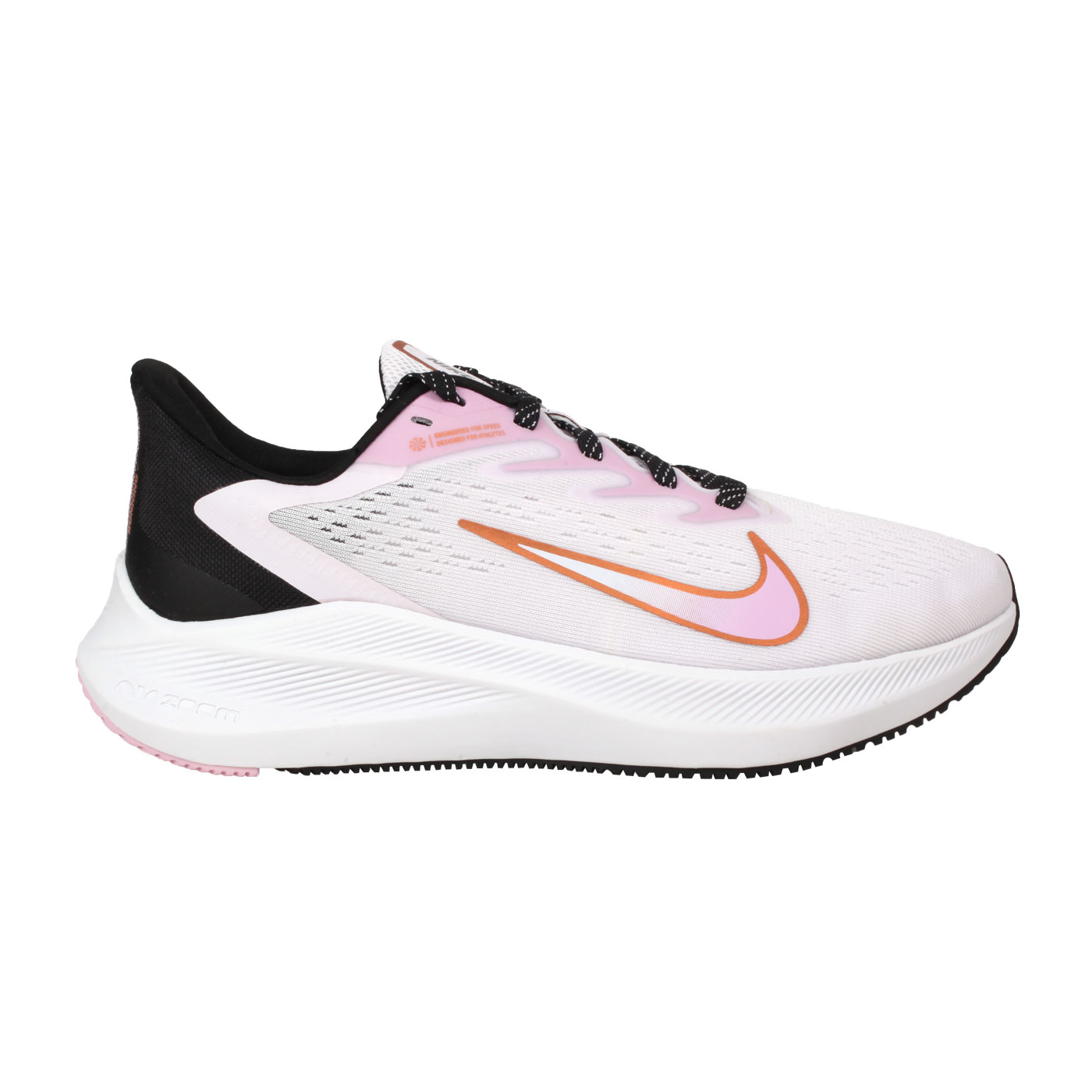 NIKE 女款運動鞋  @WMNS  ZOOM WINFLO 7@CJ0302501 - 粉紅玫瑰金