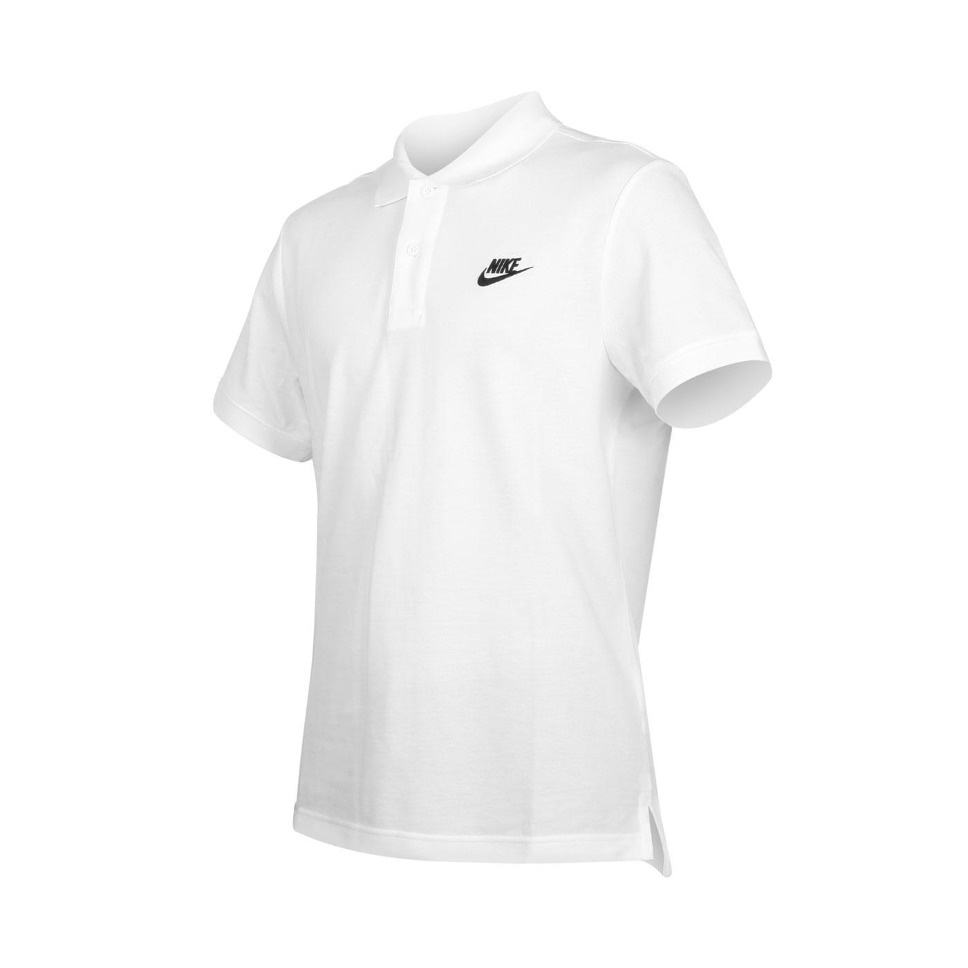 NIKE 男款短袖POLO衫 CJ4457-100 - 白黑