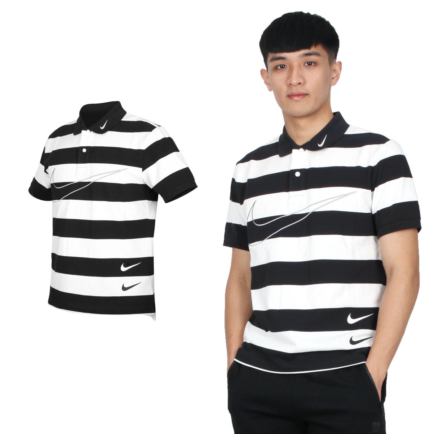 NIKE 男款短袖POLO衫 CJ4910-011 - 黑白灰
