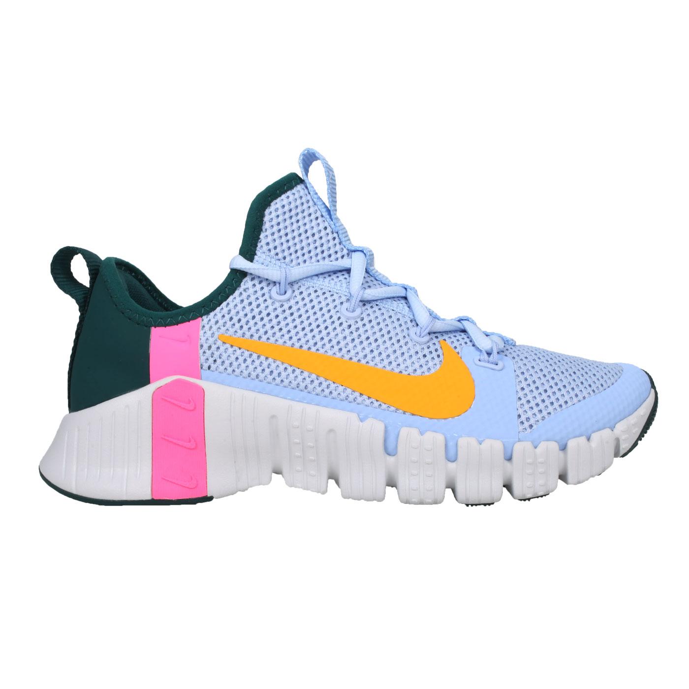 NIKE 女款休閒運動鞋  @WMNS FREE METCON 3@CJ6314564 - 淺藍黃綠粉