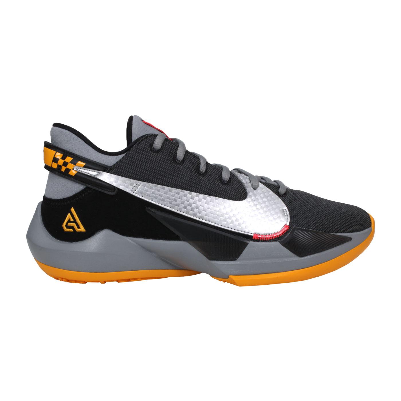 NIKE 男款籃球鞋  @ZOOM FREAK 2 EP@CK5825006 - 黑黃銀