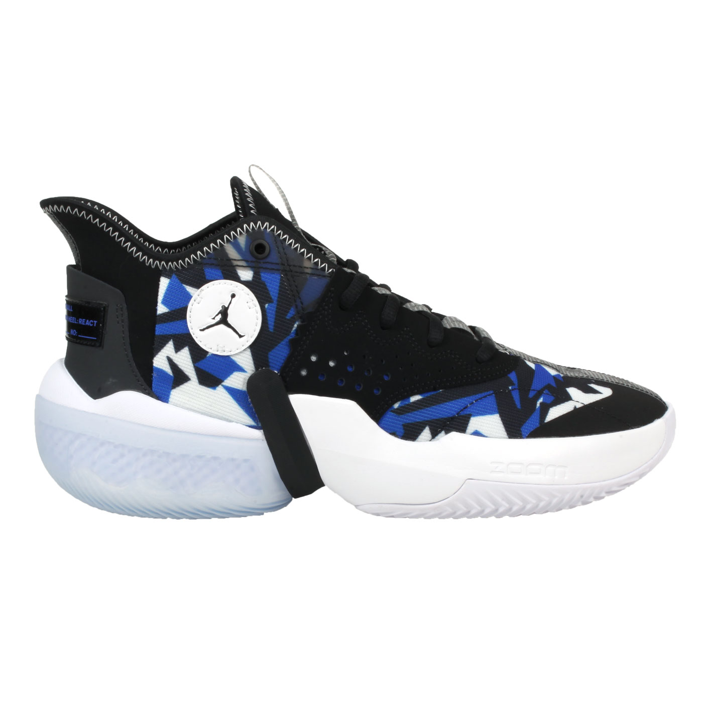 NIKE 限量-男款喬丹籃球鞋  @JORDAN REACT ELEVATION PF@CK6617004 - 黑藍白