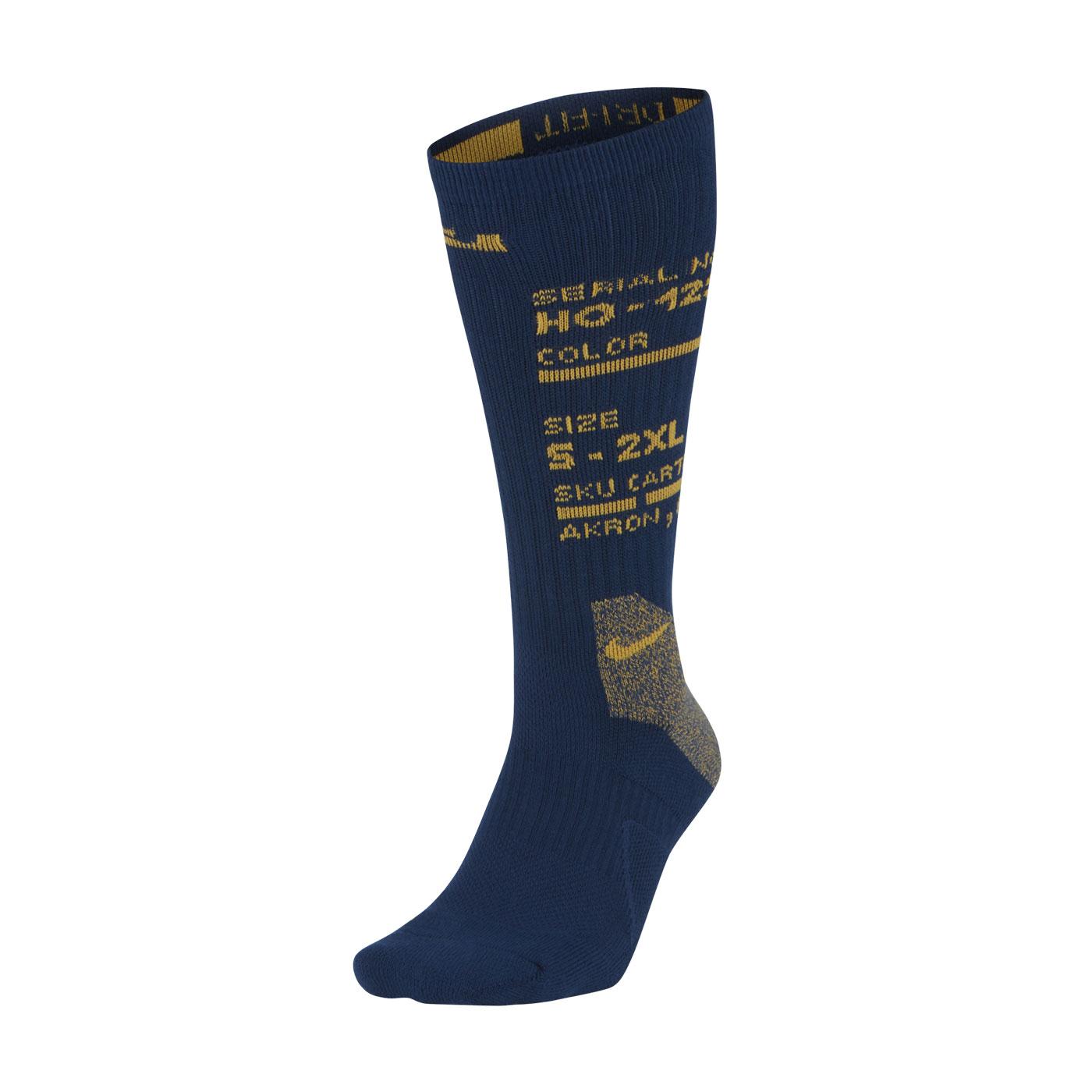 NIKE 中筒籃球襪 CK6784-490 - 深藍黃