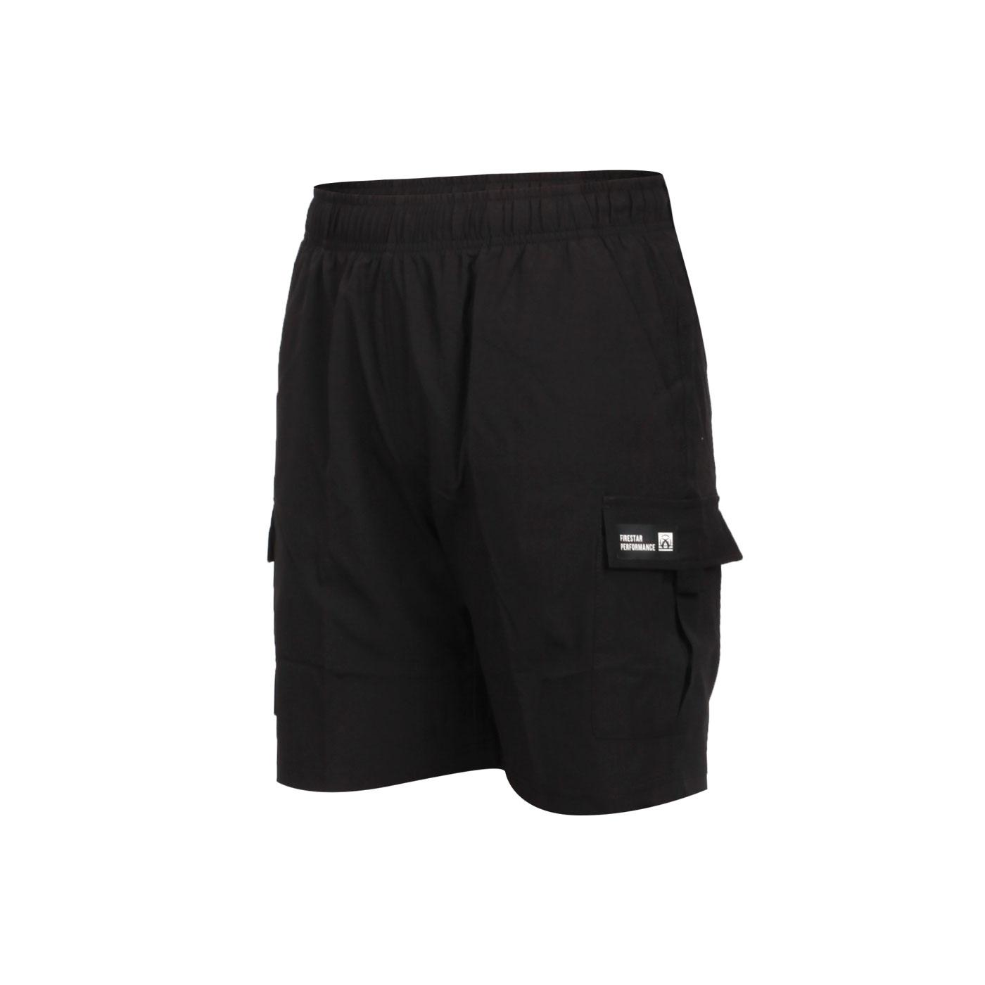 FIRESTAR 女款彈性多口袋短褲 CL027-10 - 黑