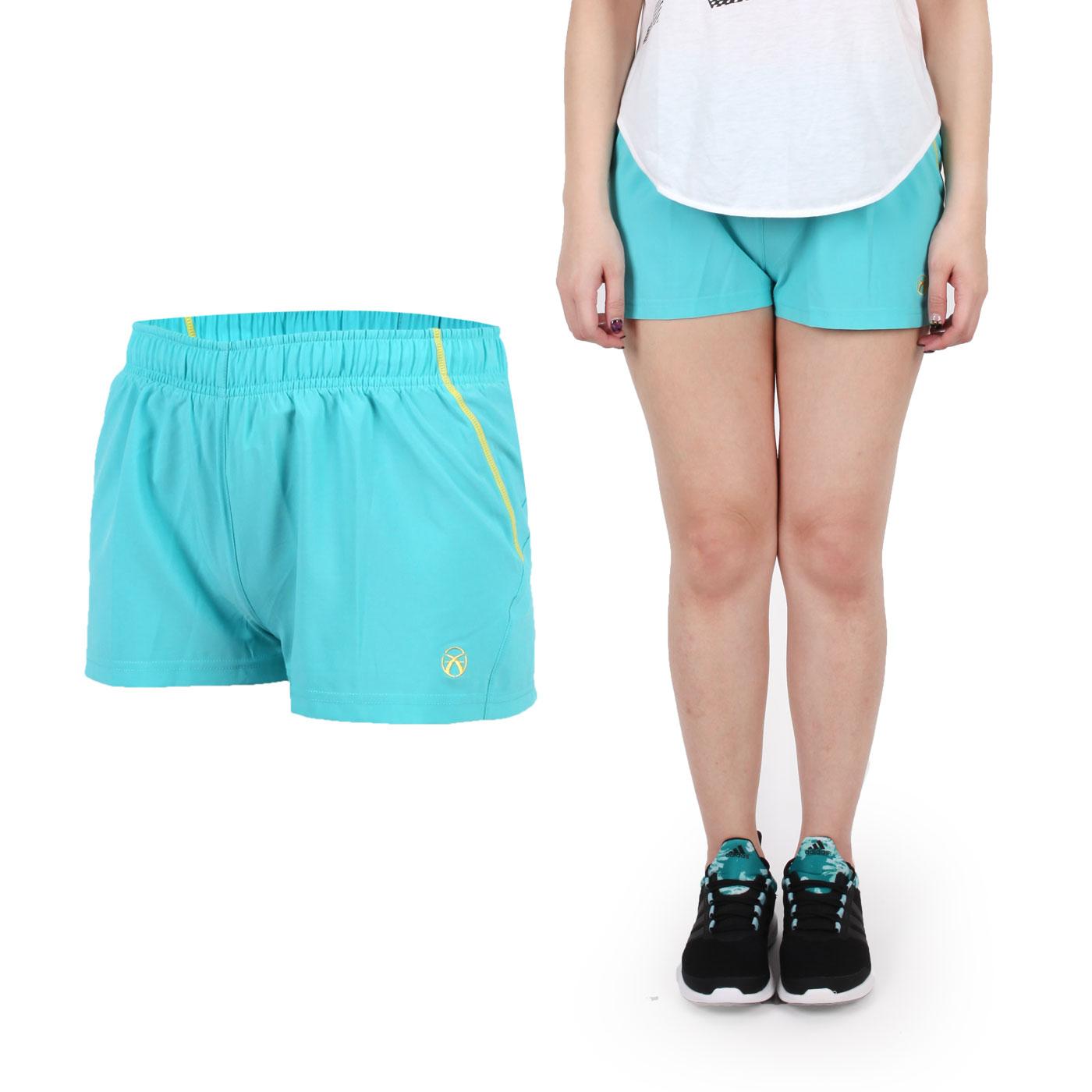 FIRESTAR 女慢跑短褲 CL623-10 - 湖水綠黃
