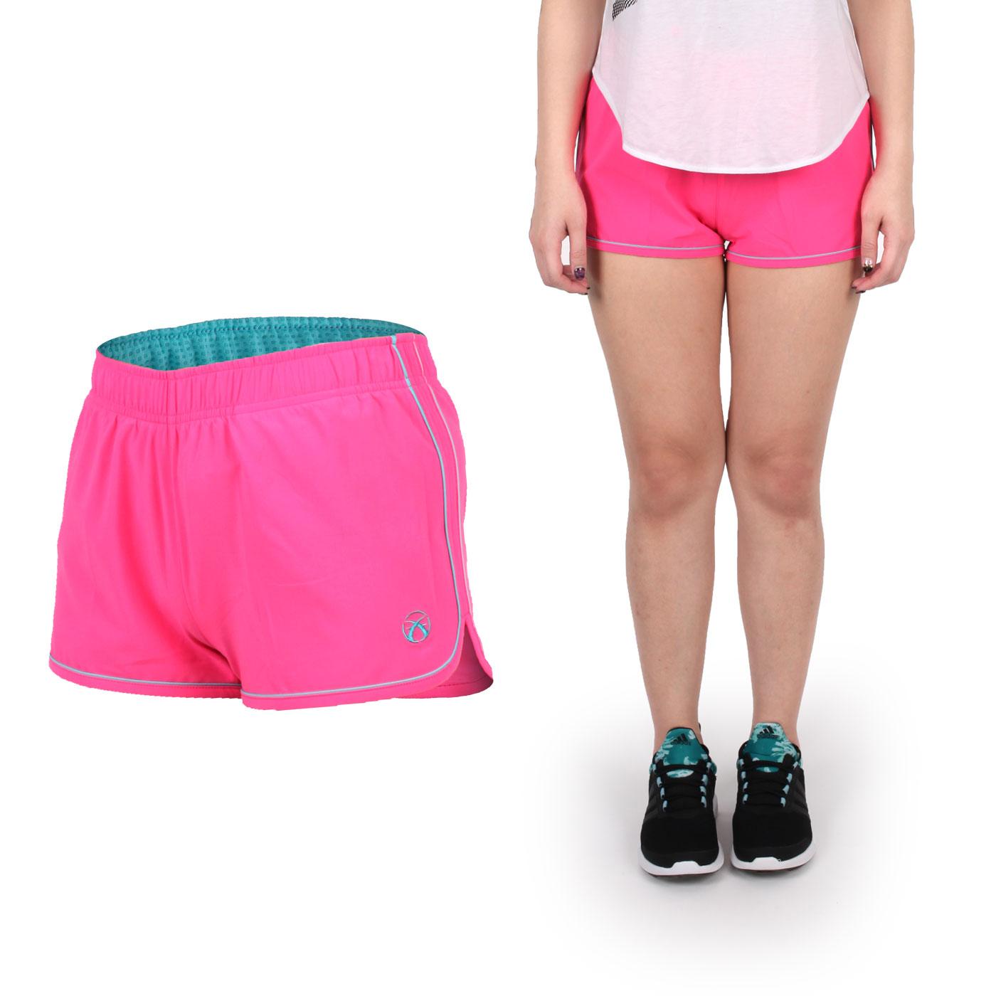 FIRESTAR 女款彈性平織慢跑短褲  CL625-10 - 粉紅湖水藍