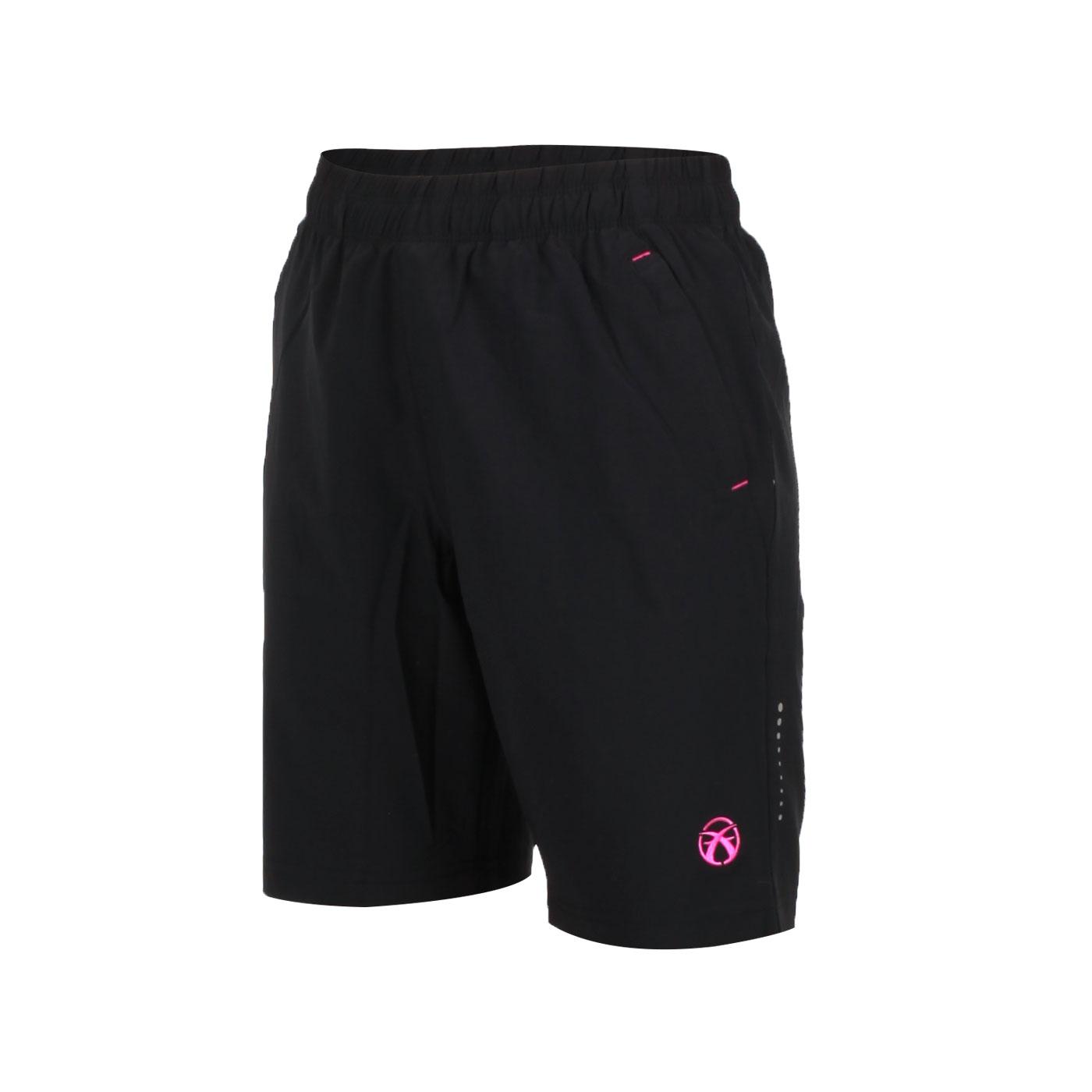FIRESTAR 女款彈性平織五分褲 CL825-10 - 黑桃紅
