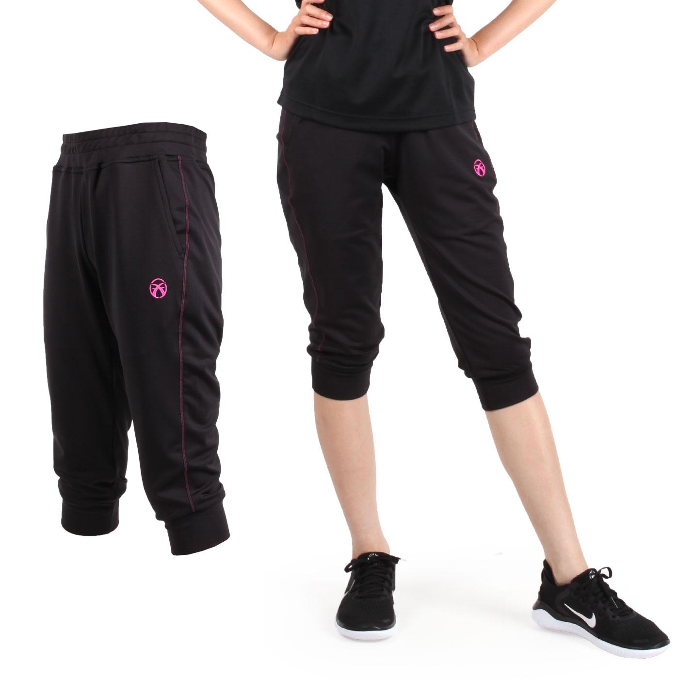 FIRESTAR 女款七分褲 CL828-10 - 粉紅黑