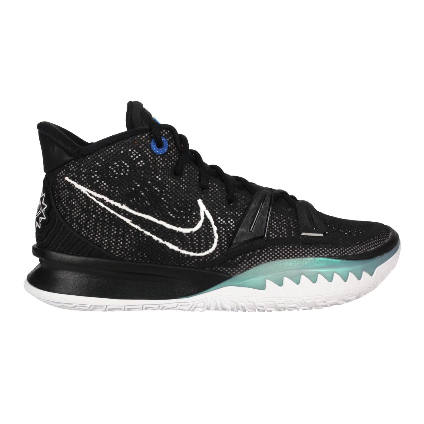 NIKE 男款籃球鞋  @KYRIE 7 EP@CQ9327002 - 黑白綠