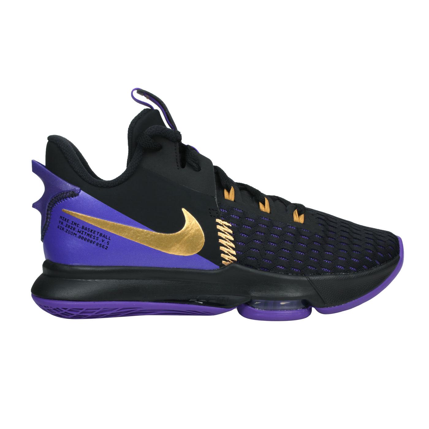 NIKE 男款籃球鞋  @LEBRON WITNESS V EP@CQ9381001 - 黑紫金