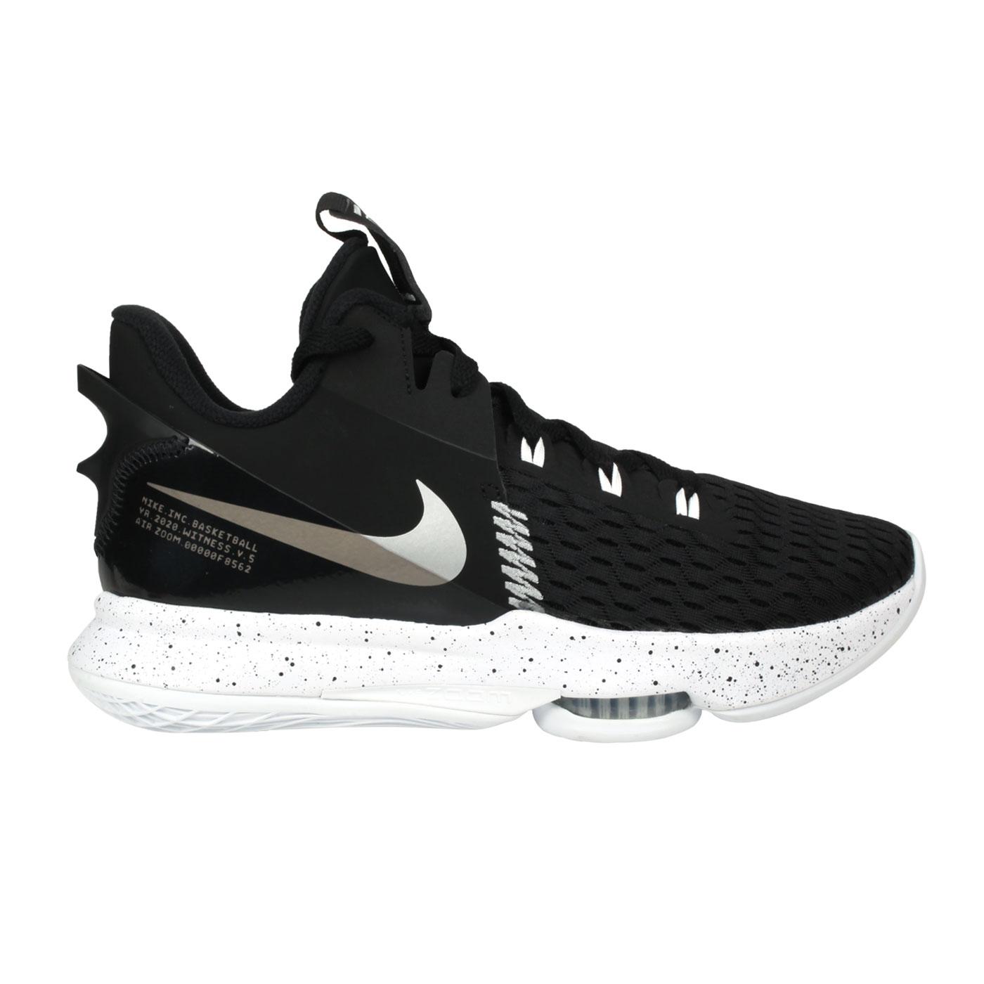 NIKE 男款籃球鞋  @LEBRON WITNESS V EP@CQ9381002 - 黑白銀
