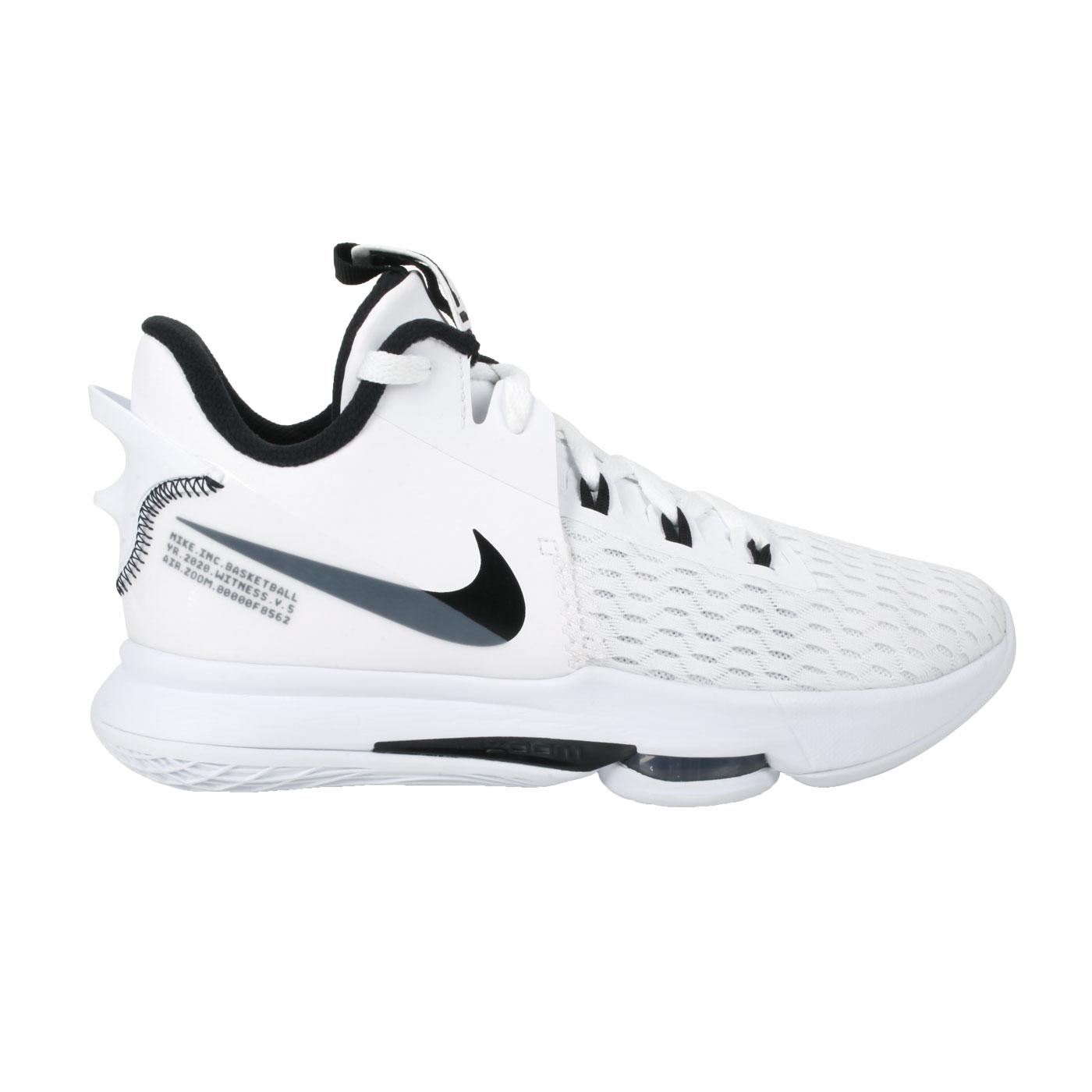 NIKE 男款籃球鞋  @LEBRON WITNESS V EP@CQ9381101 - 白黑