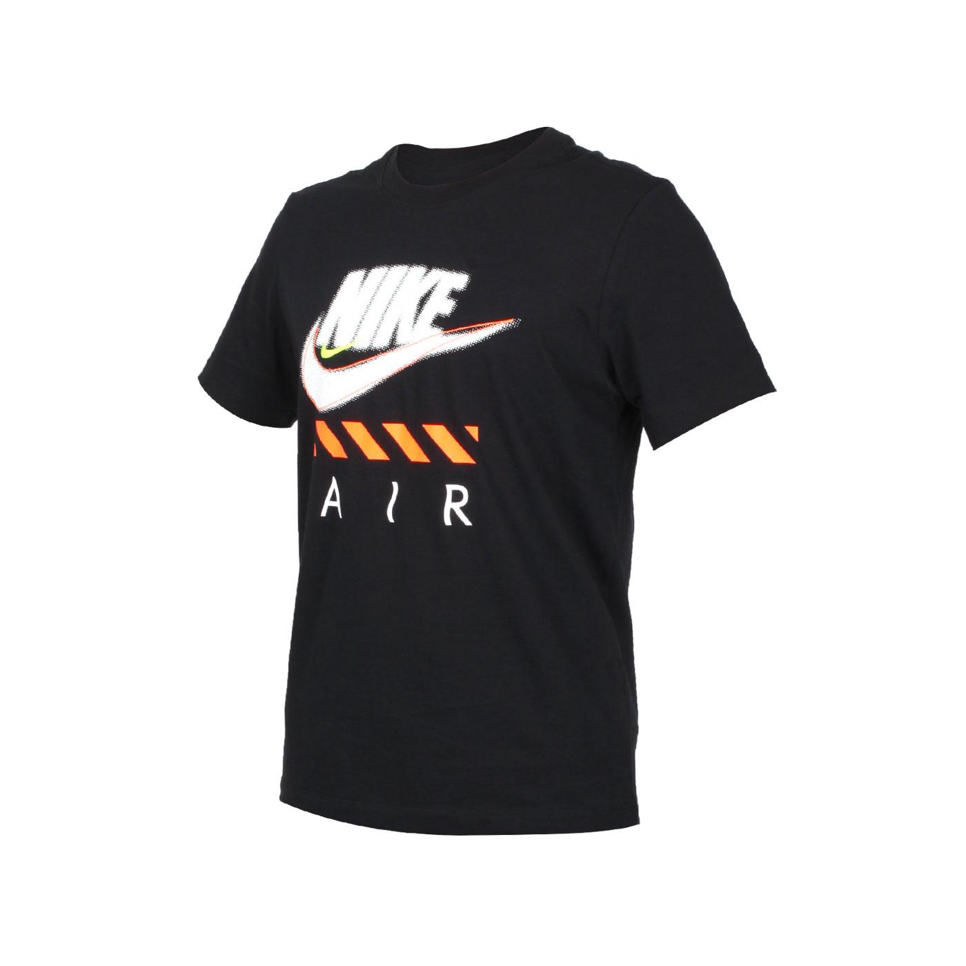 NIKE 男款短袖T恤 CT6533-010 - 黑白亮橘黃