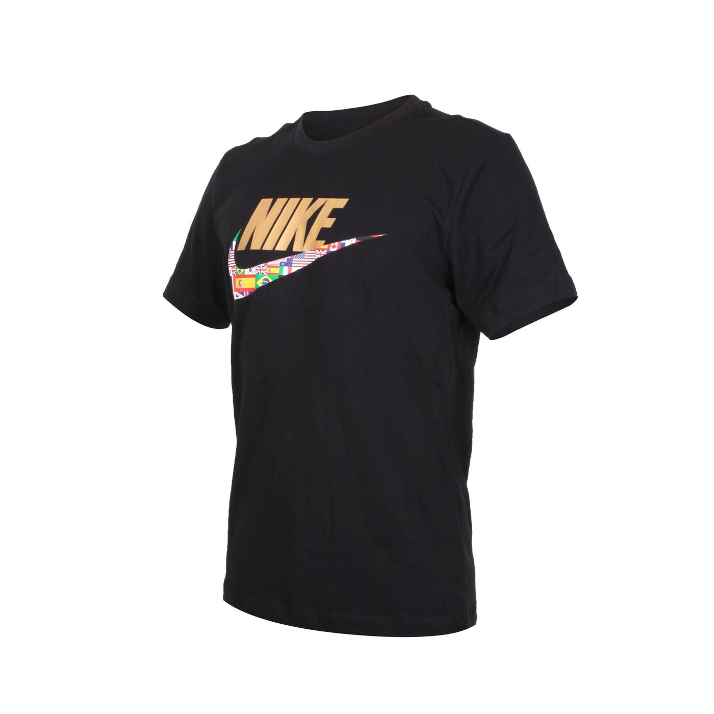 NIKE 男款短袖T恤 CT6551-010 - 黑黃藍紅綠