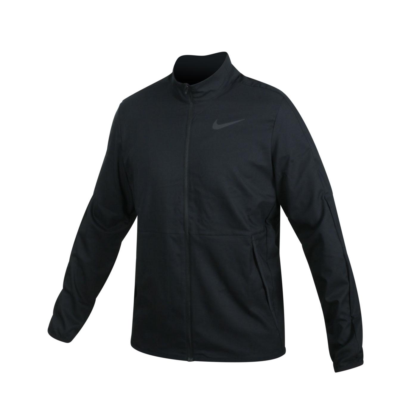 NIKE 男款吸濕排汗訓練外套 CU4954-010 - 黑灰